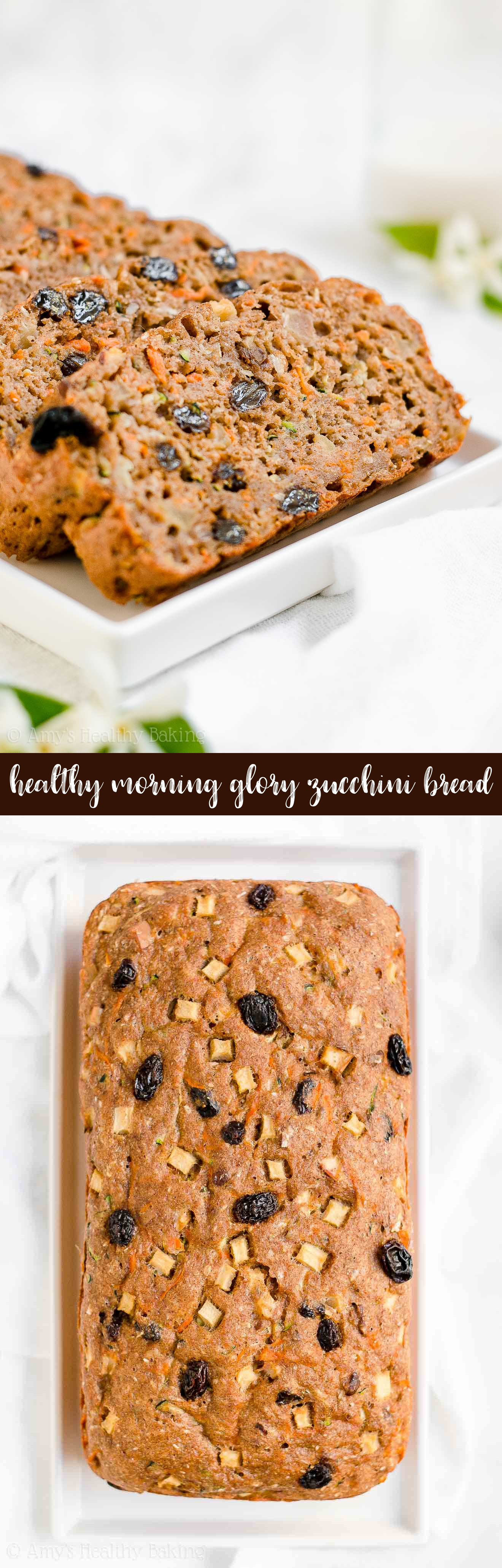 Best Healthy Greek Yogurt Morning Glory Zucchini Bread