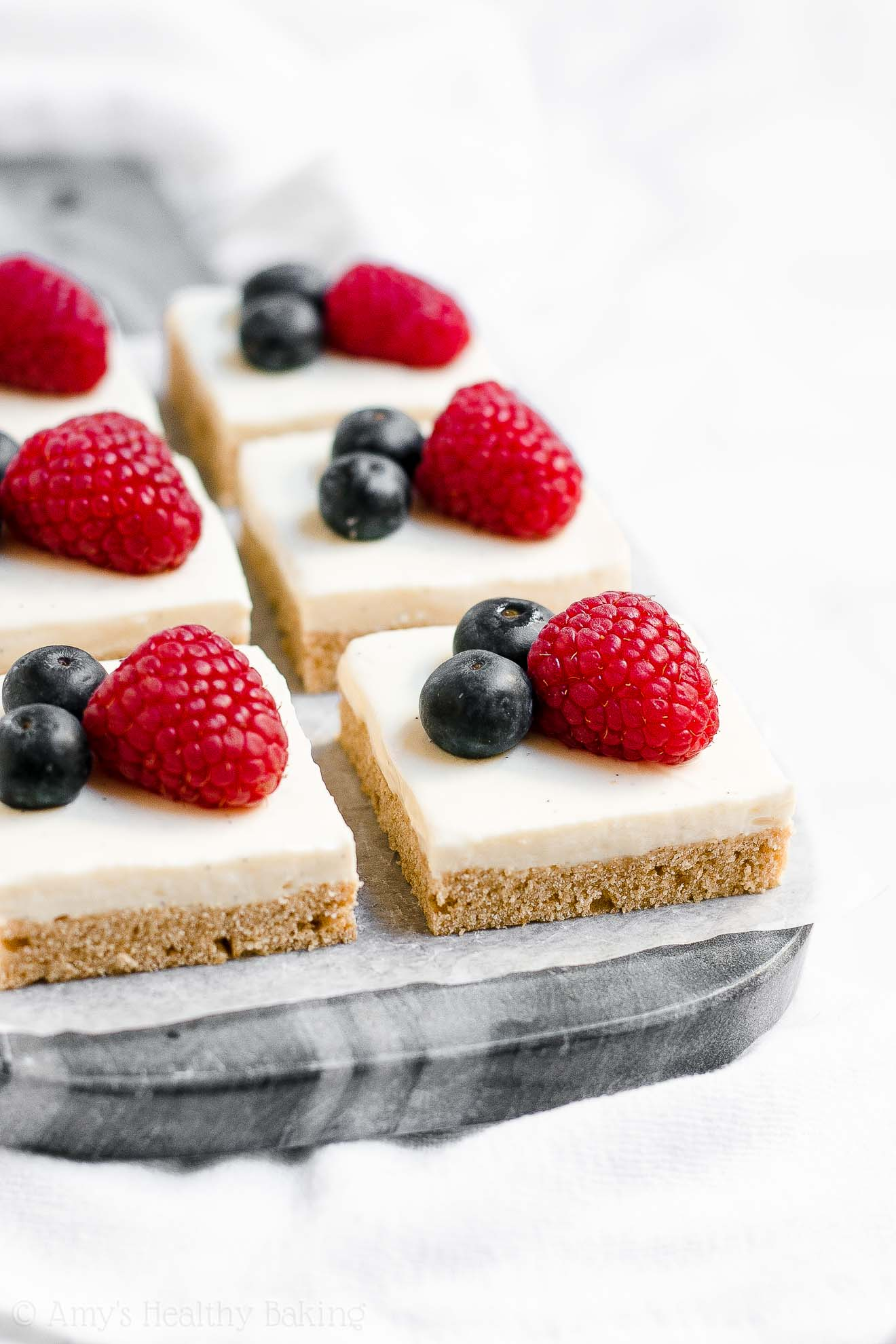 Healthy Gluten Free Frosted Sugar Cookie Bars