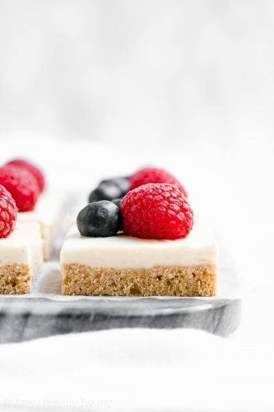 Healthy Frosted Sugar Cookie Bars