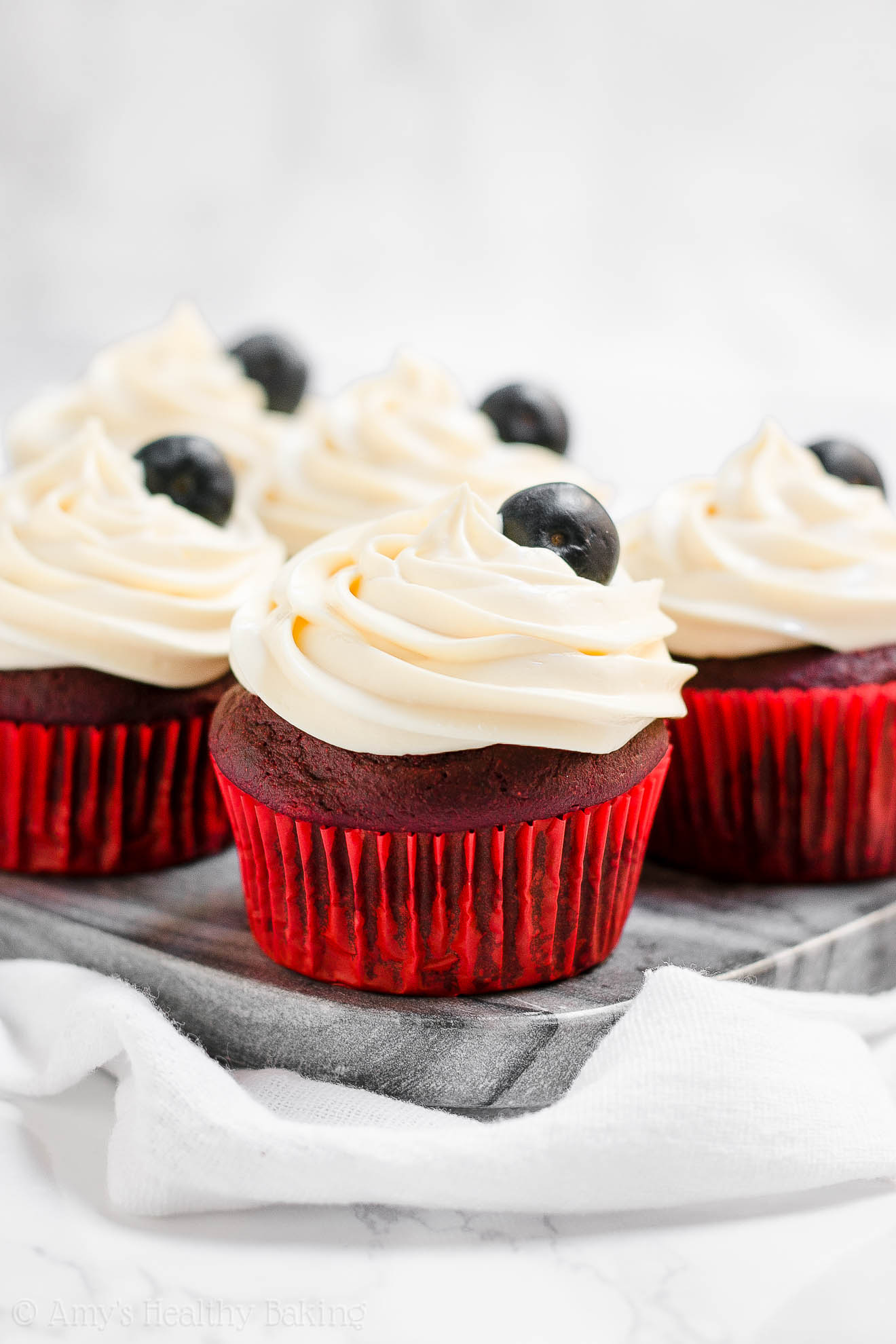 Healthy Homemade 4th of July Cupcakes
