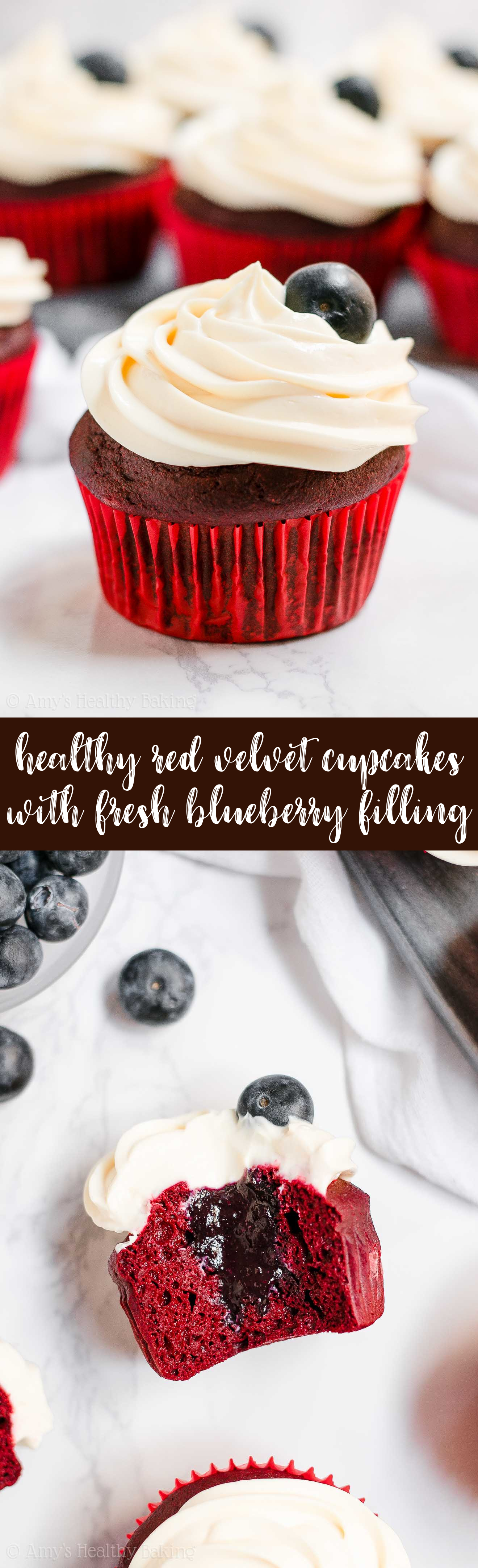 Best Healthy 4th of July Red Velvet Cupcakes