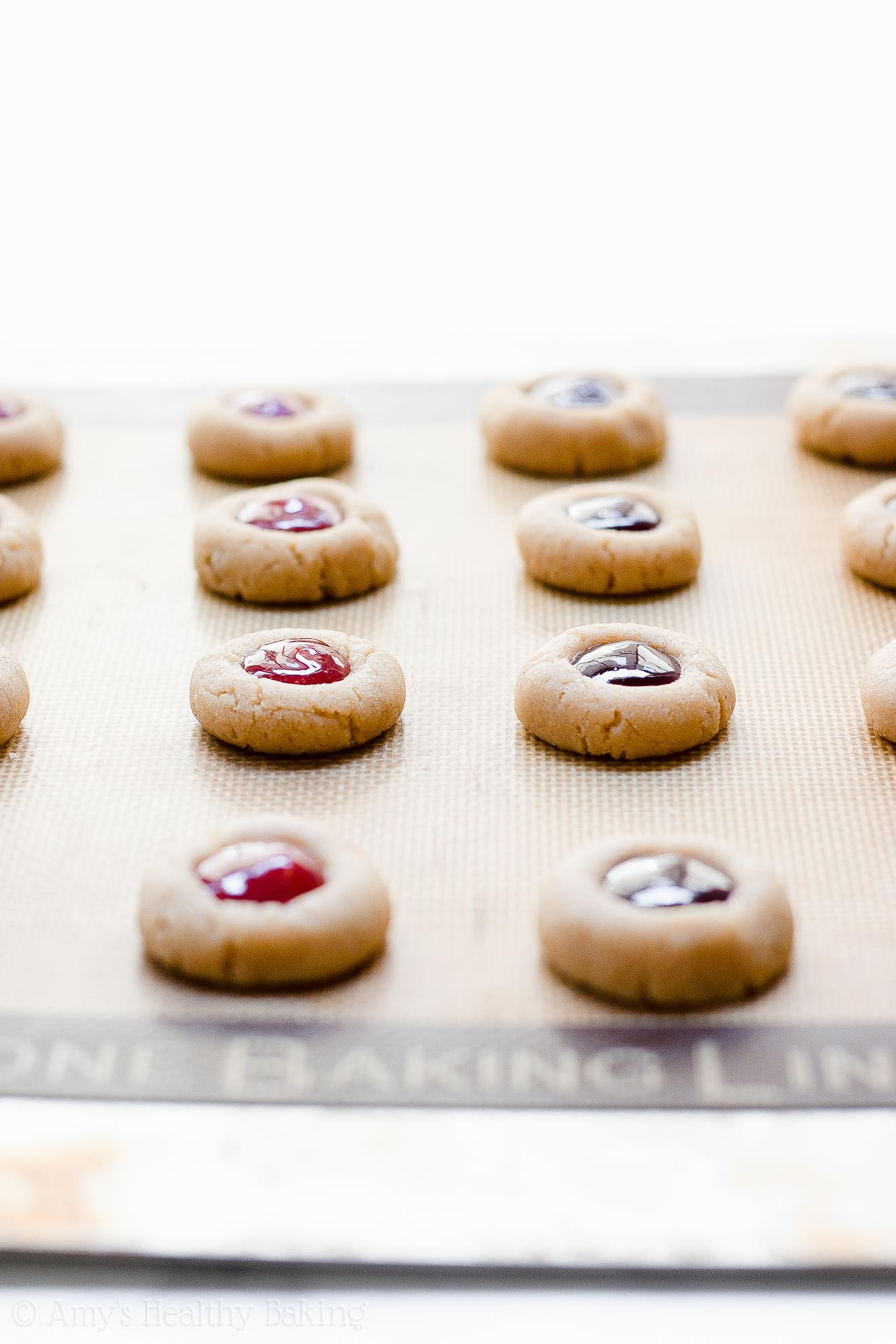 Healthy Low Calorie Jam Thumbprint Cookies
