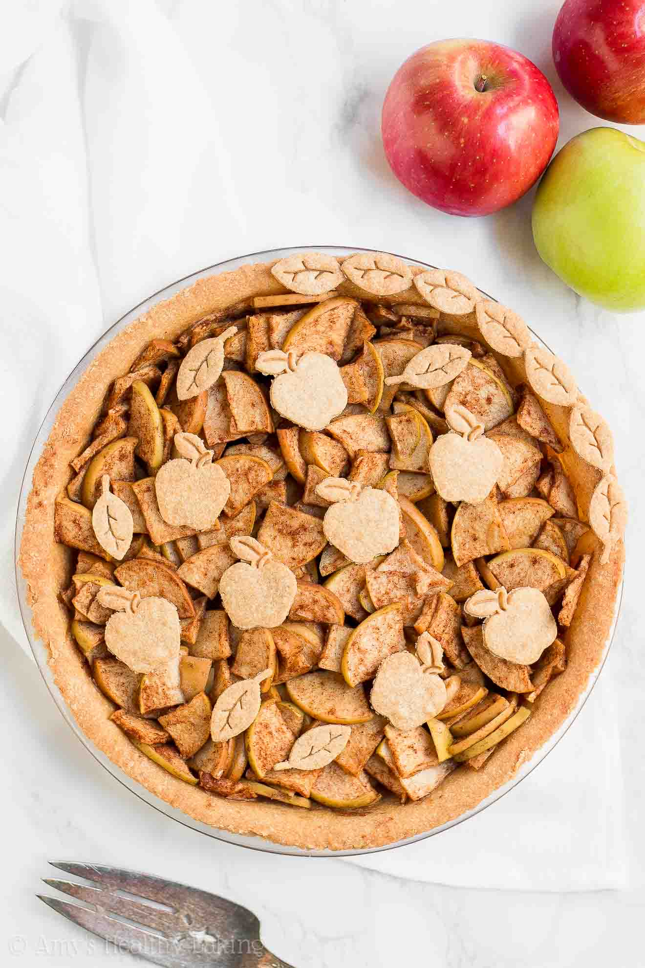 ULTIMATE Healthy Apple Pie with flaky whole wheat crust