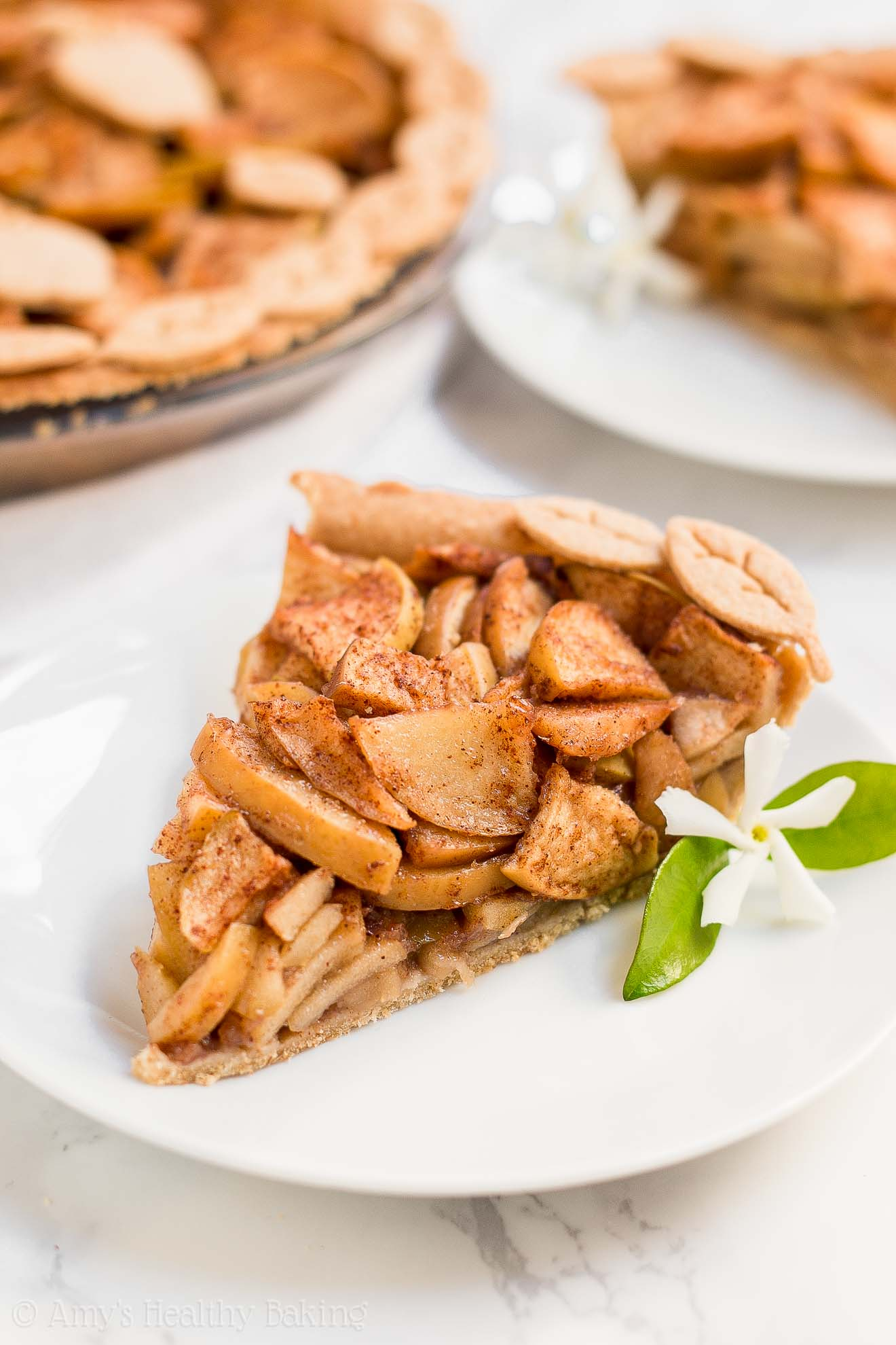 Best Healthy Classic Apple Pie that's eggless with a vegan option