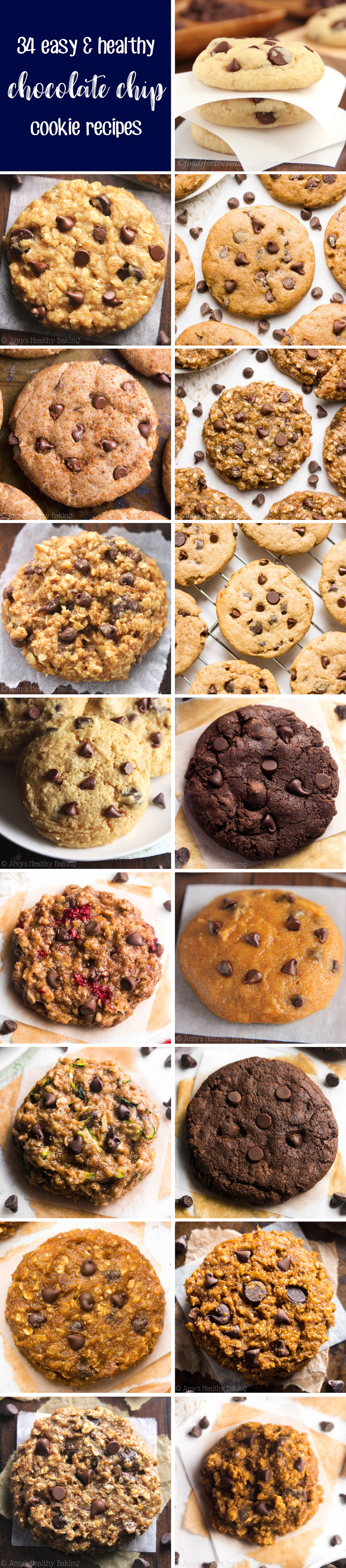 34 Easy & Healthy Chocolate Chip Cookie Recipes (Low Fat & Low Calorie)
