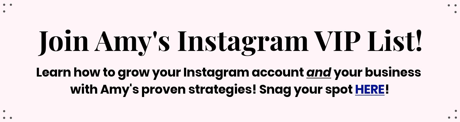 How I Organically Grew My Instagram Account (Part 1) | Amy's