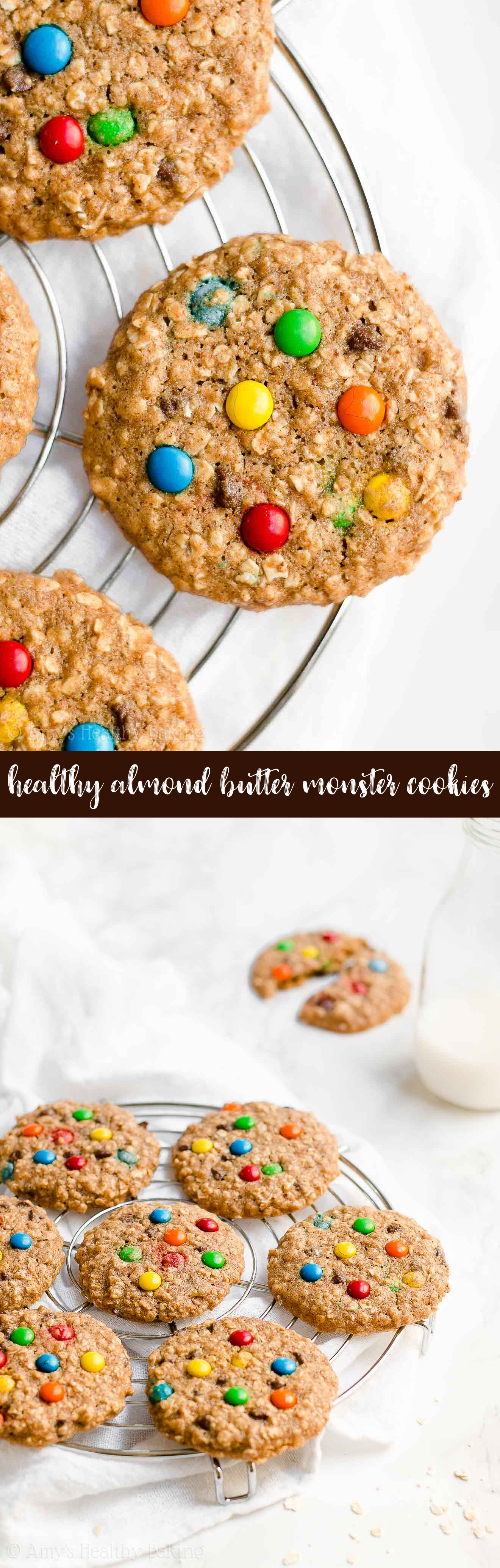 Best Ever Healthy Almond Butter Monster Cookies