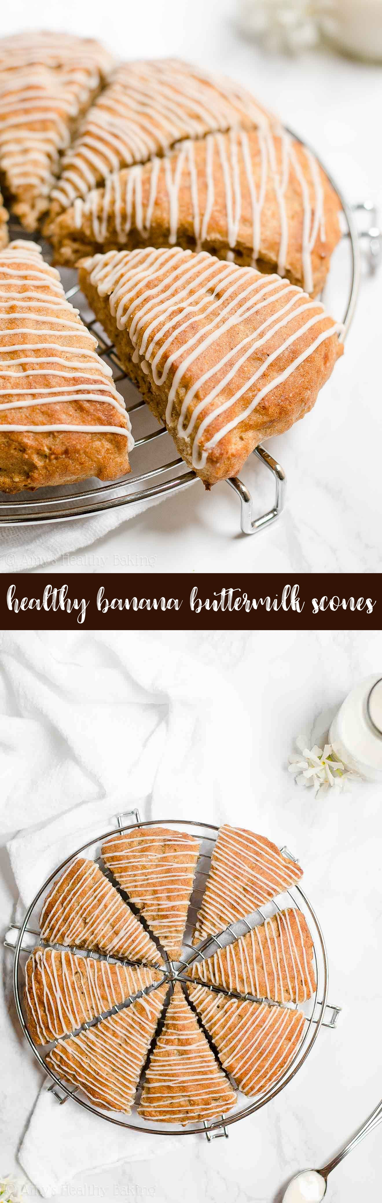 Best Easy and Healthy Banana Buttermilk Scones