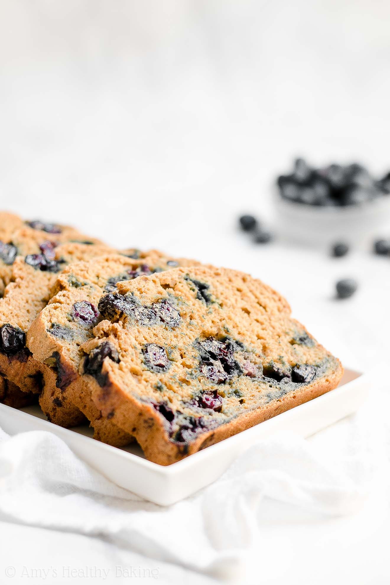 Healthy Gluten Free Blueberry Oatmeal Breakfast Quick Bread