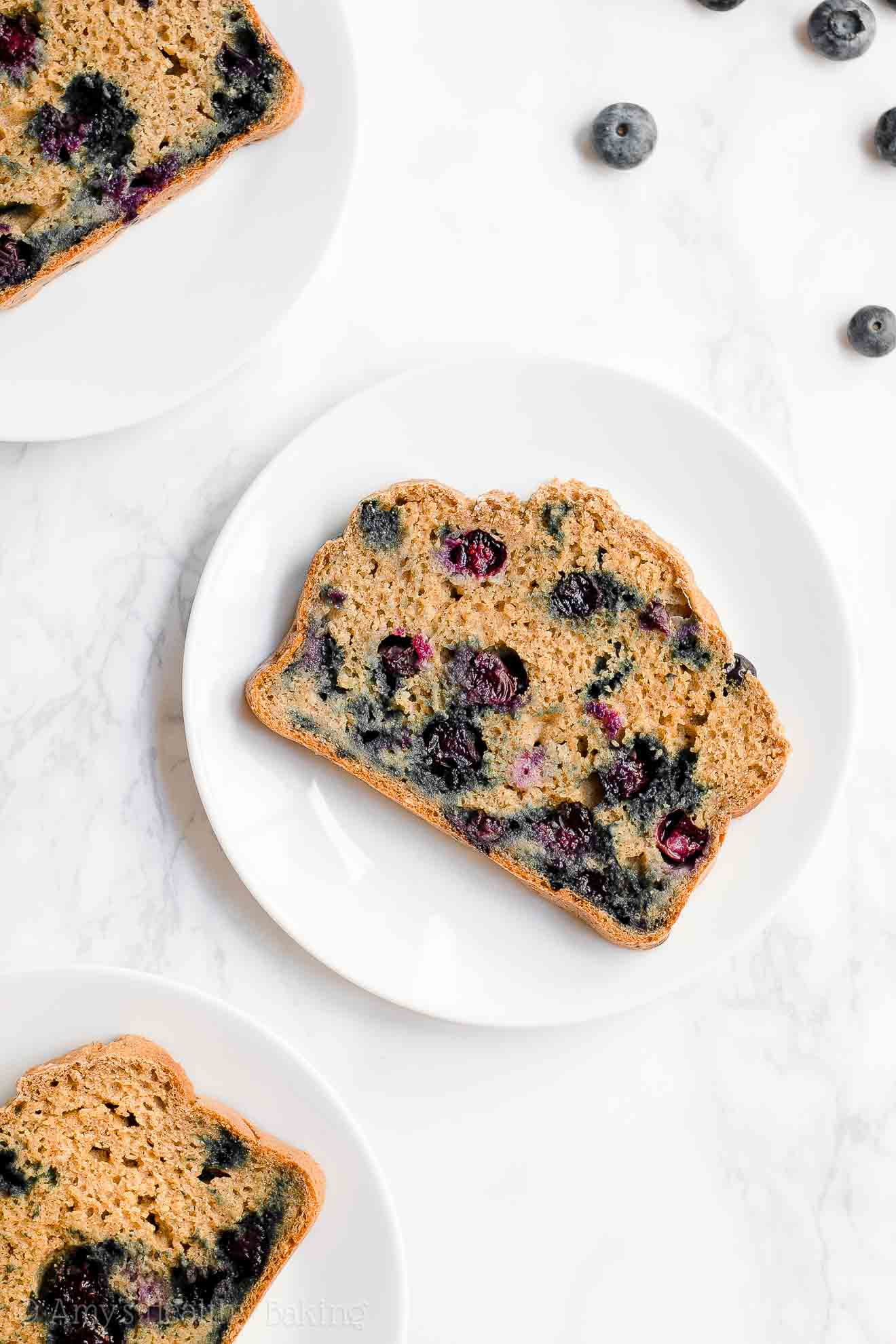 Moist Healthy Blueberry Oatmeal Breakfast Quick Bread