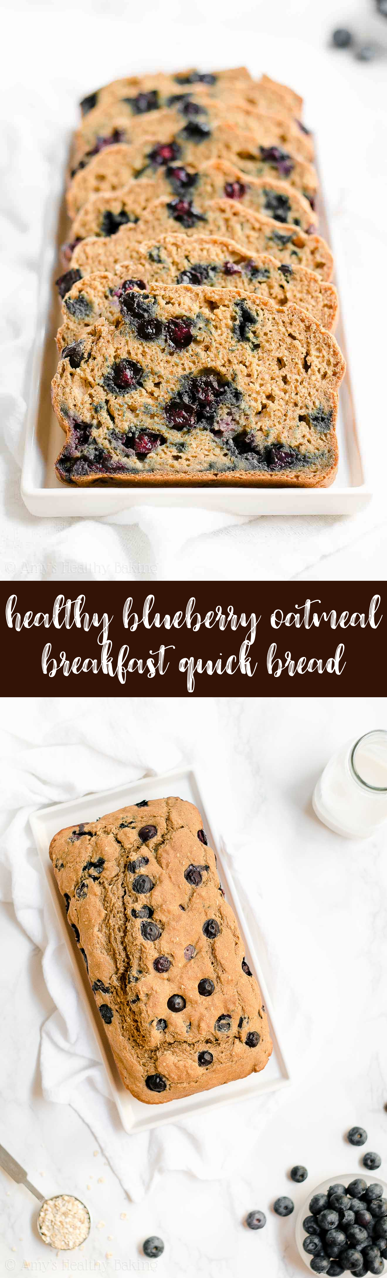 Best Healthy Blueberry Oatmeal Breakfast Quick Bread