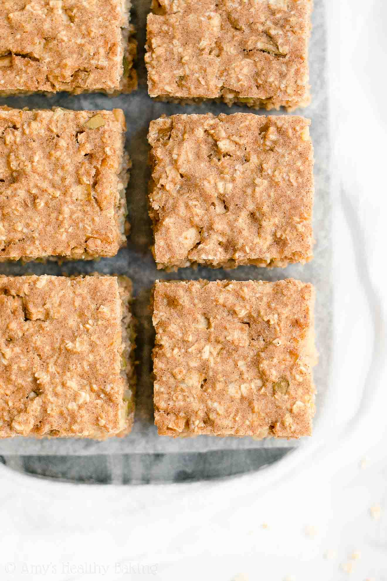 Healthy Clean Eating Cinnamon Apple Oatmeal Snack Cake