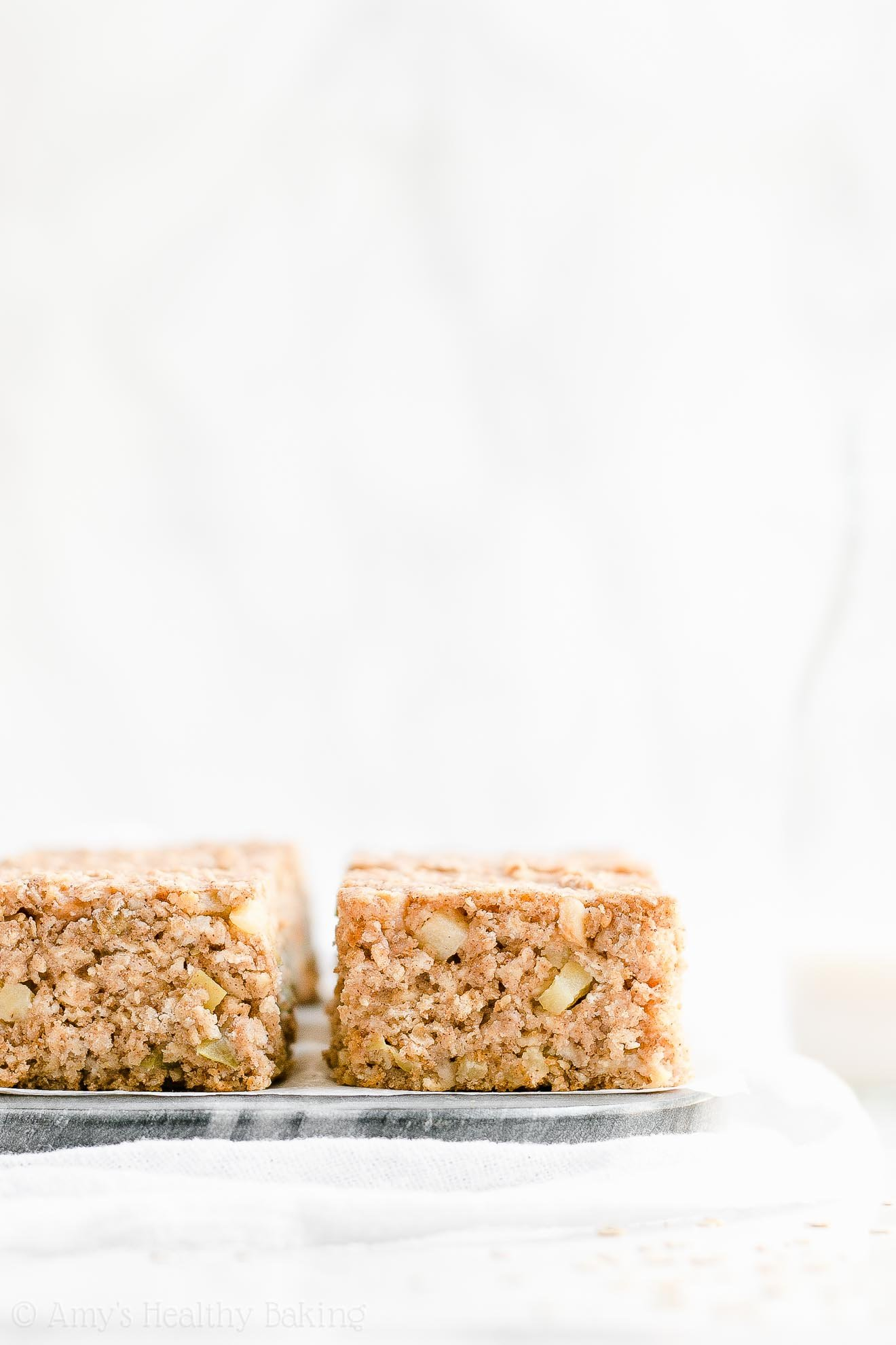 Healthy Gluten Free Cinnamon Apple Oatmeal Snack Cake
