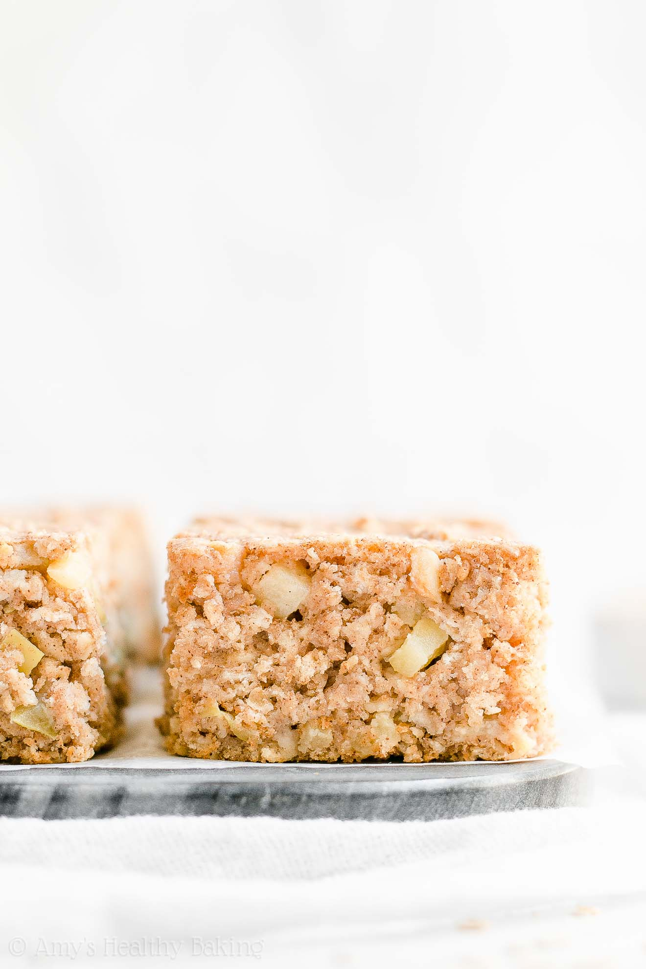 Clean Eating Healthy Low Calorie Cinnamon Apple Oatmeal Snack Cake