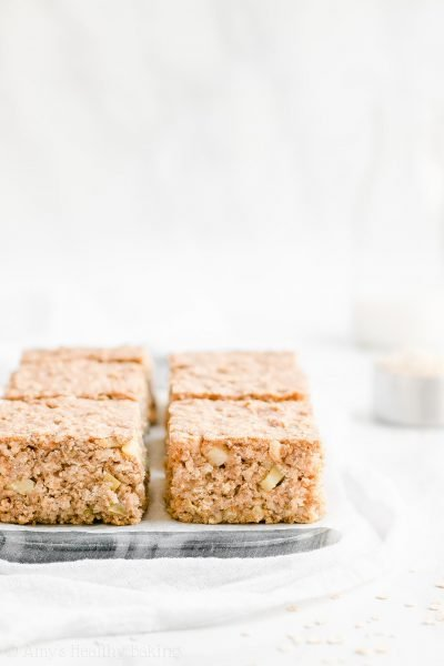 Healthy Cinnamon Apple Oatmeal Snack Cake