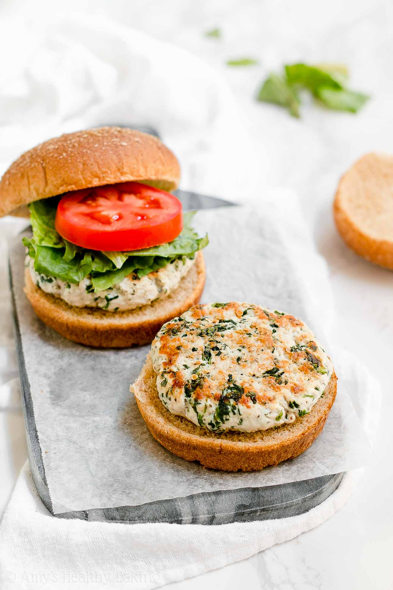 ULTIMATE Healthy Turkey Burgers with no eggs or breadcrumbs