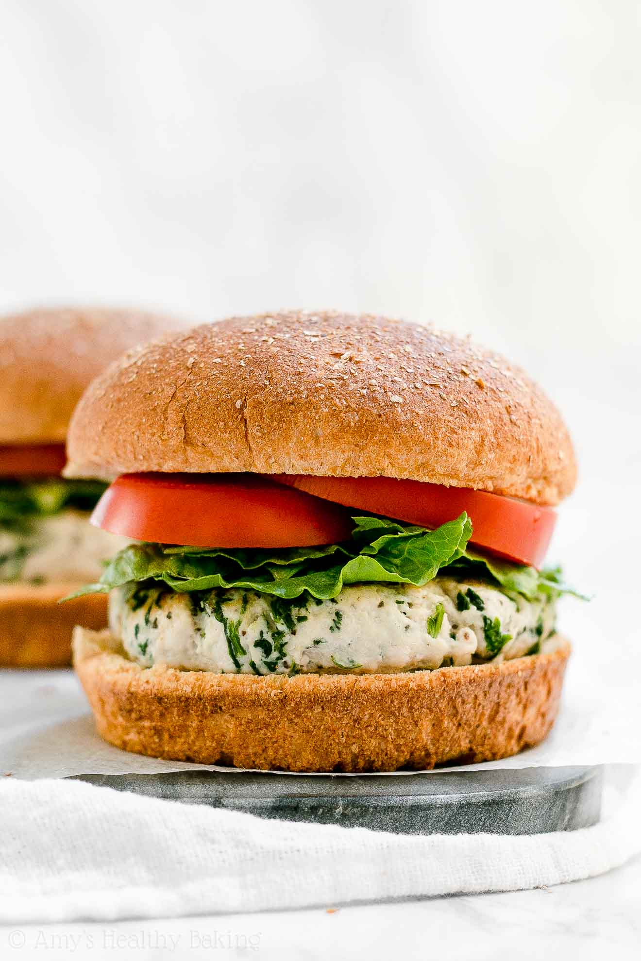 Best Ever Healthy Turkey Burgers that are moist & juicy