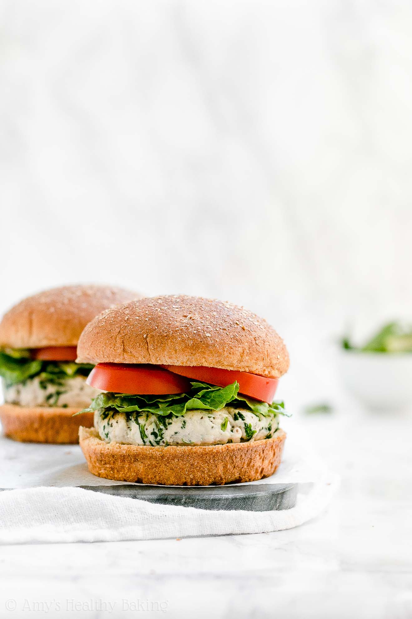 ULTIMATE Healthy Turkey Burgers that are moist & juicy