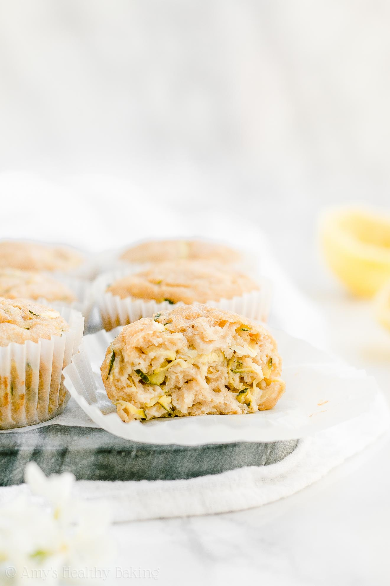 Best Healthy Low Calorie Lemon Zucchini Muffins