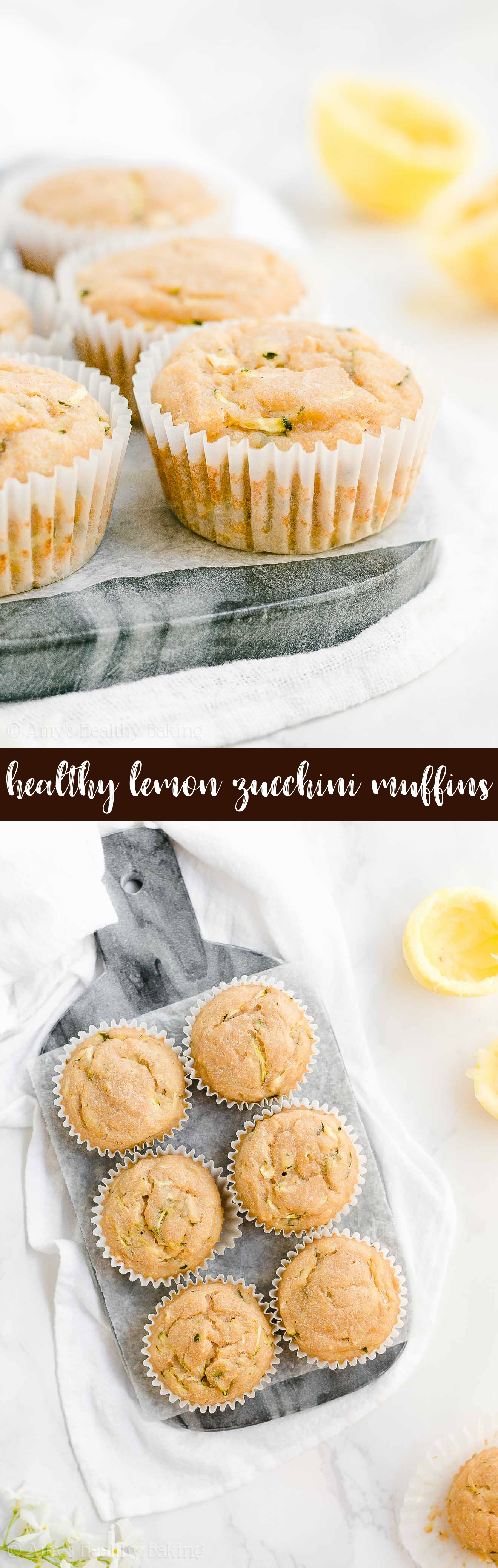 Absolute Best Ever Healthy Lemon Zucchini Muffins