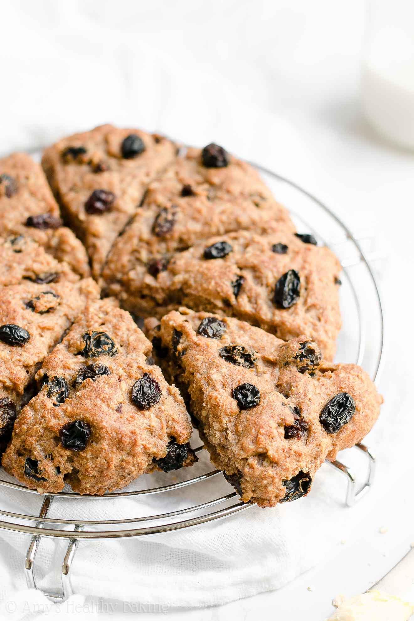 Healthy Low Calorie Gluten Free Oatmeal Raisin Scones
