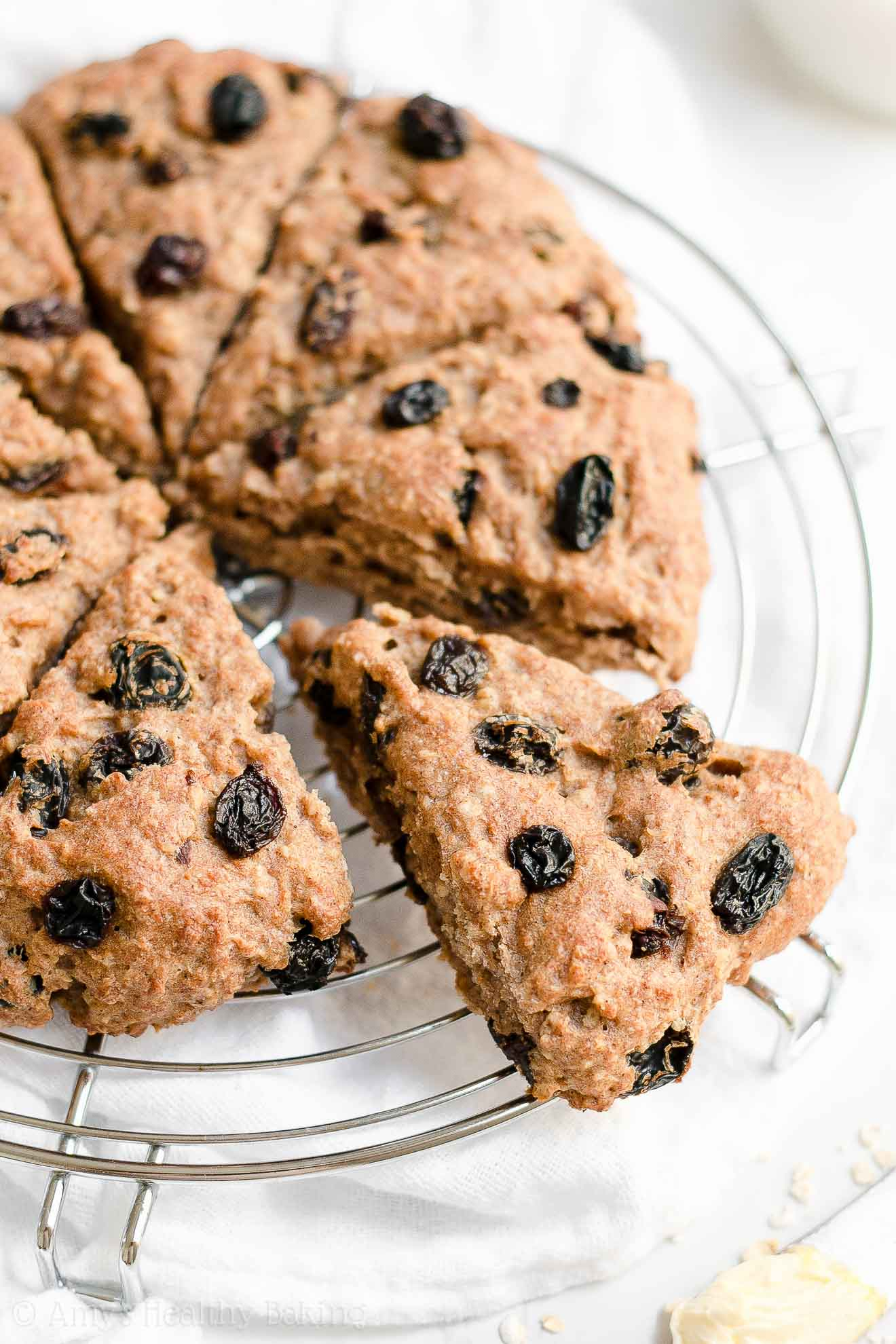 Healthy Oatmeal Raisin Scones with Weight Watchers Points