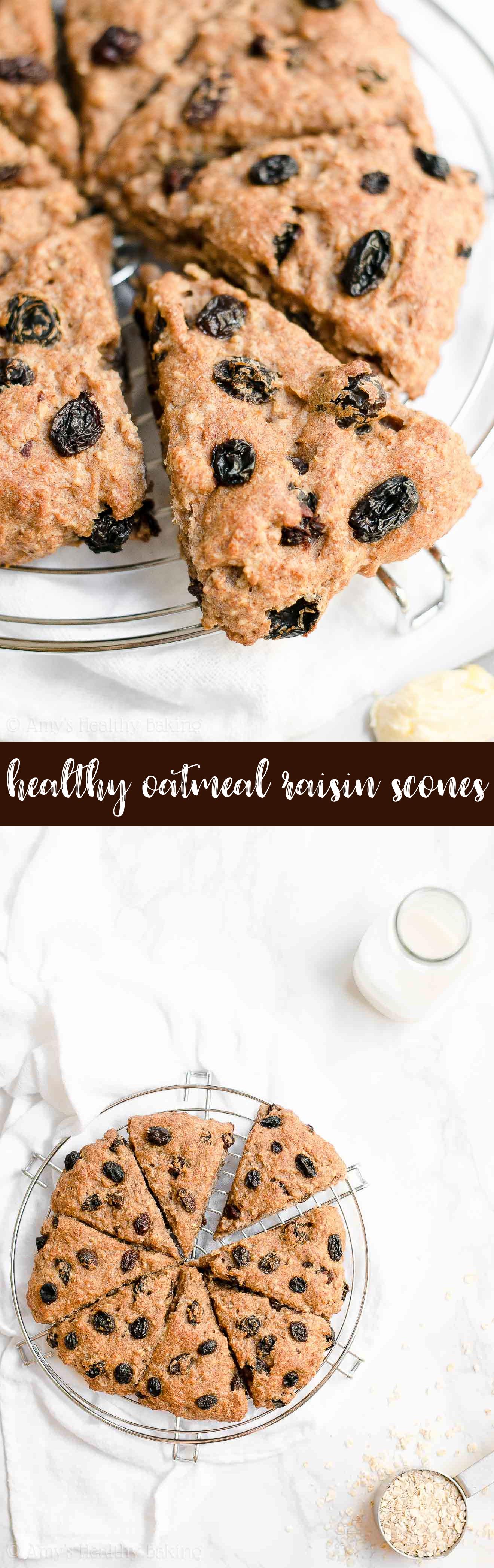 Best Ever Healthy Oatmeal Raisin Scones