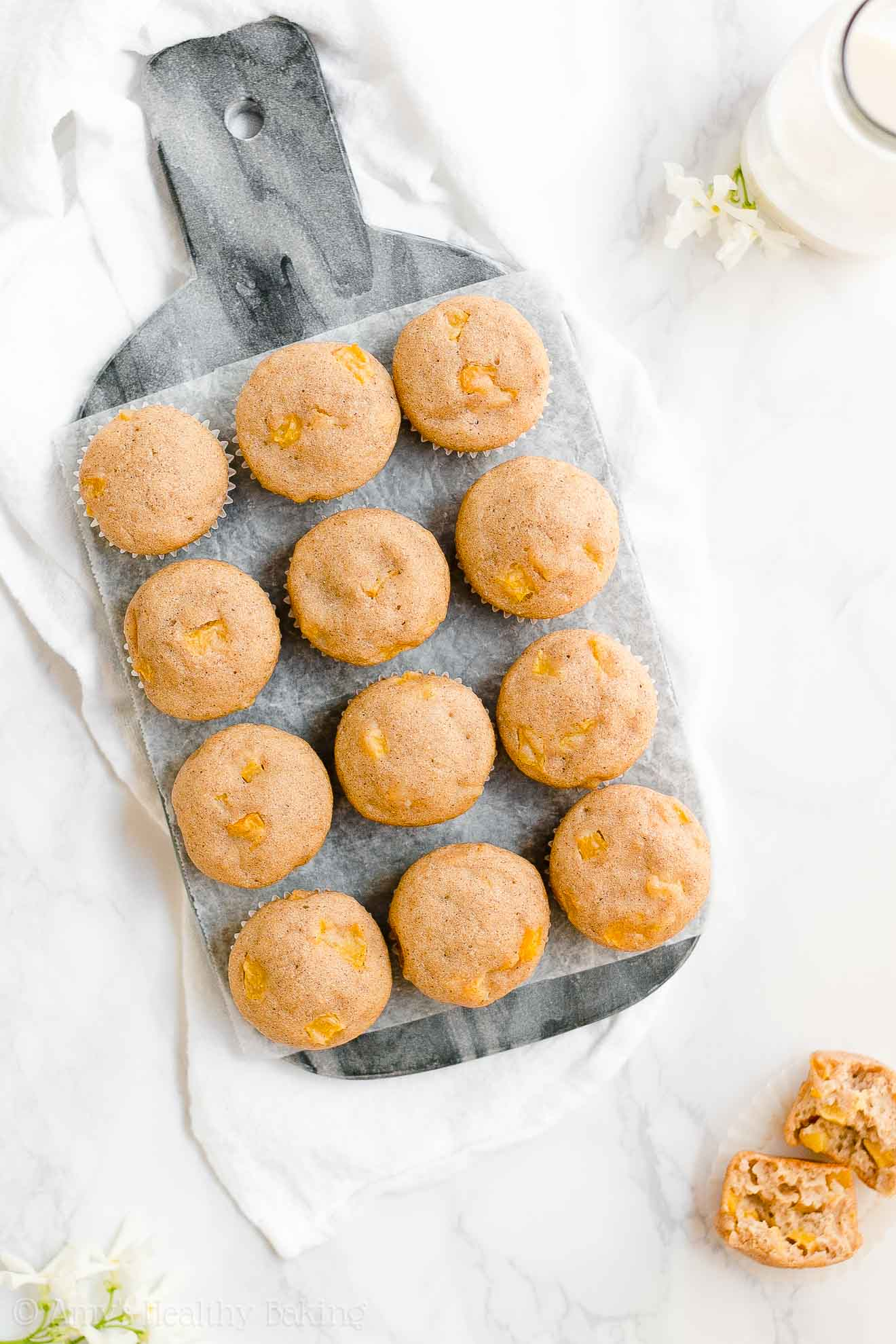 Best Healthy Greek Yogurt Peach Mini Muffins