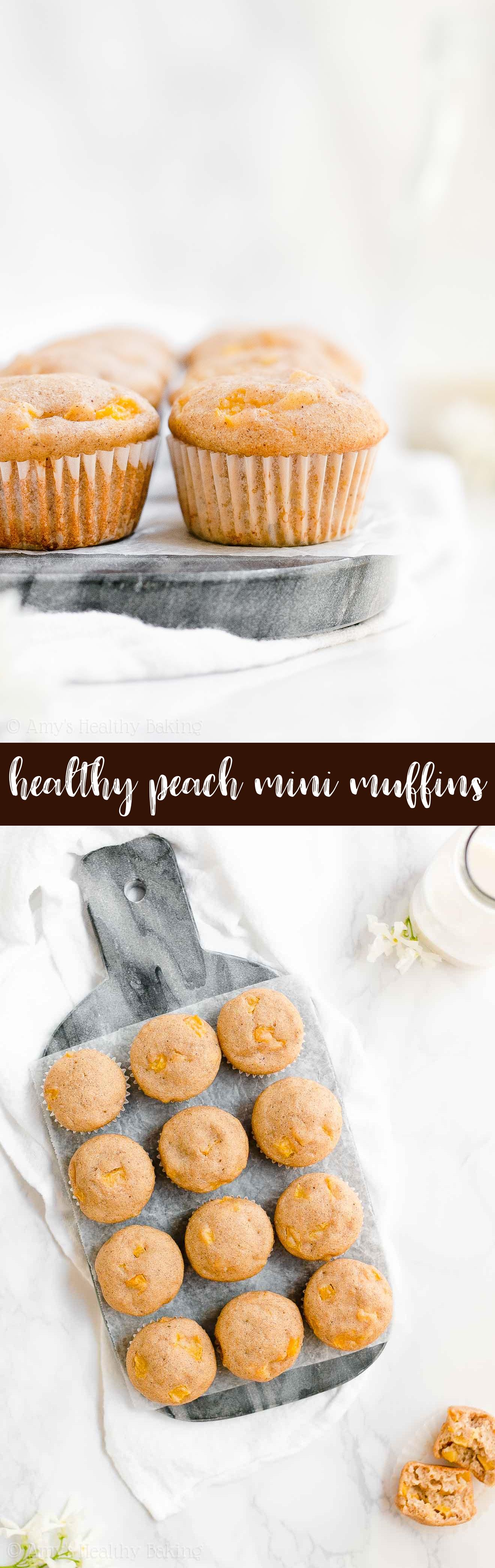Best Ever Healthy Peach Mini Muffins