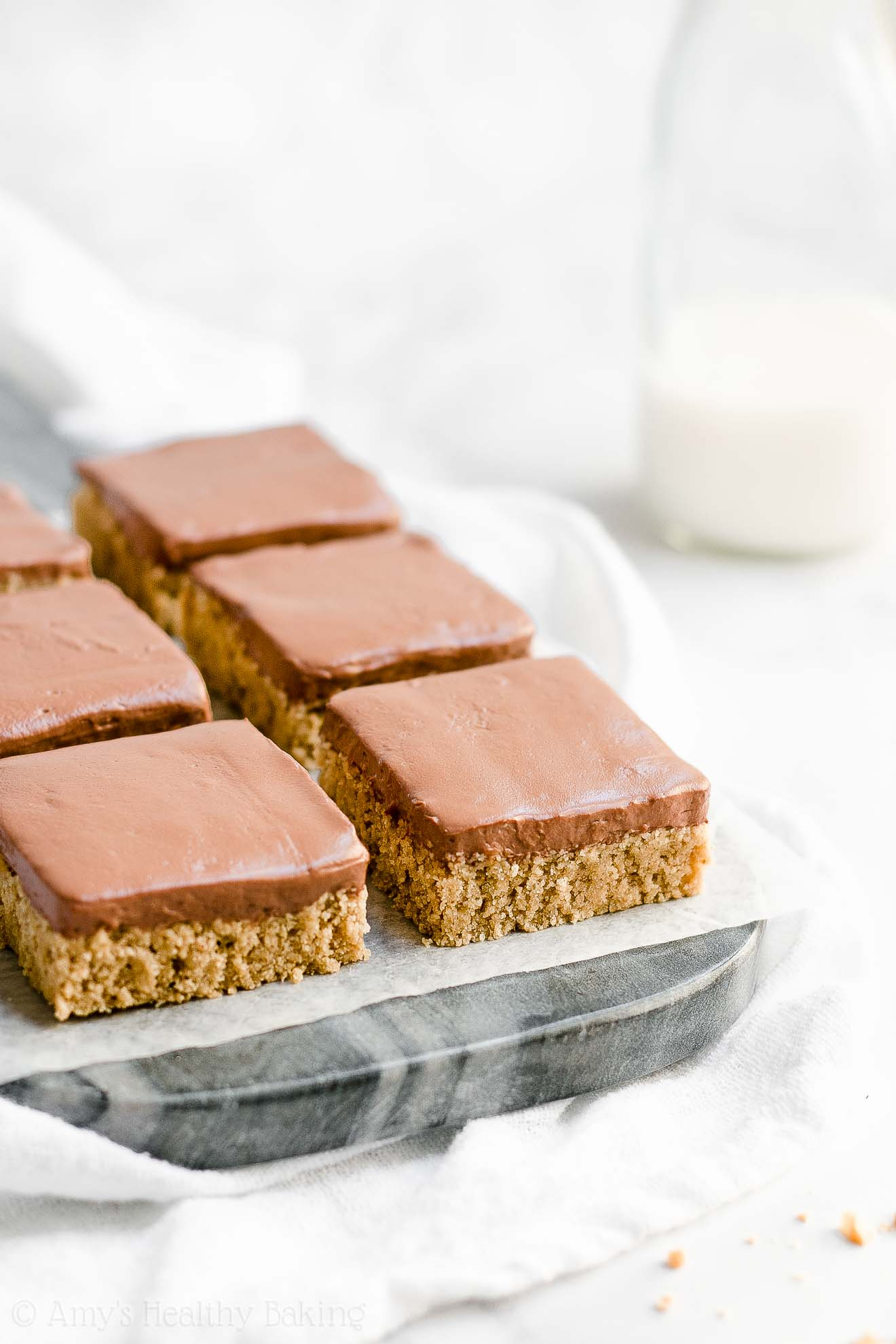 Healthy Flourless Peanut Butter Cookie Bars with Weight Watchers Points