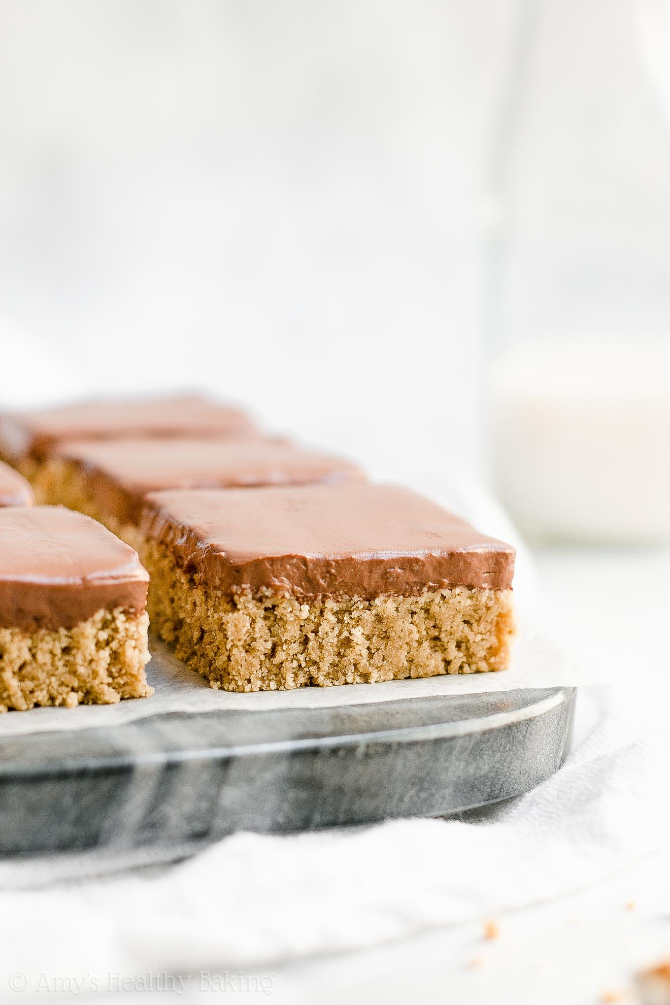 Healthy Flourless Gluten Free Peanut Butter Cookie Bars