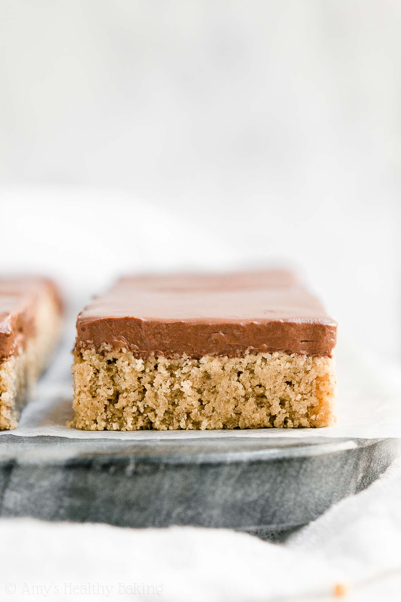 Easy Low Calorie Healthy Flourless Peanut Butter Cookie Bars