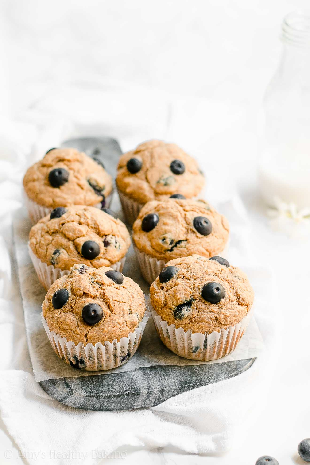 ULTIMATE Healthy Low Fat Low Calorie Blueberry Oatmeal Muffins