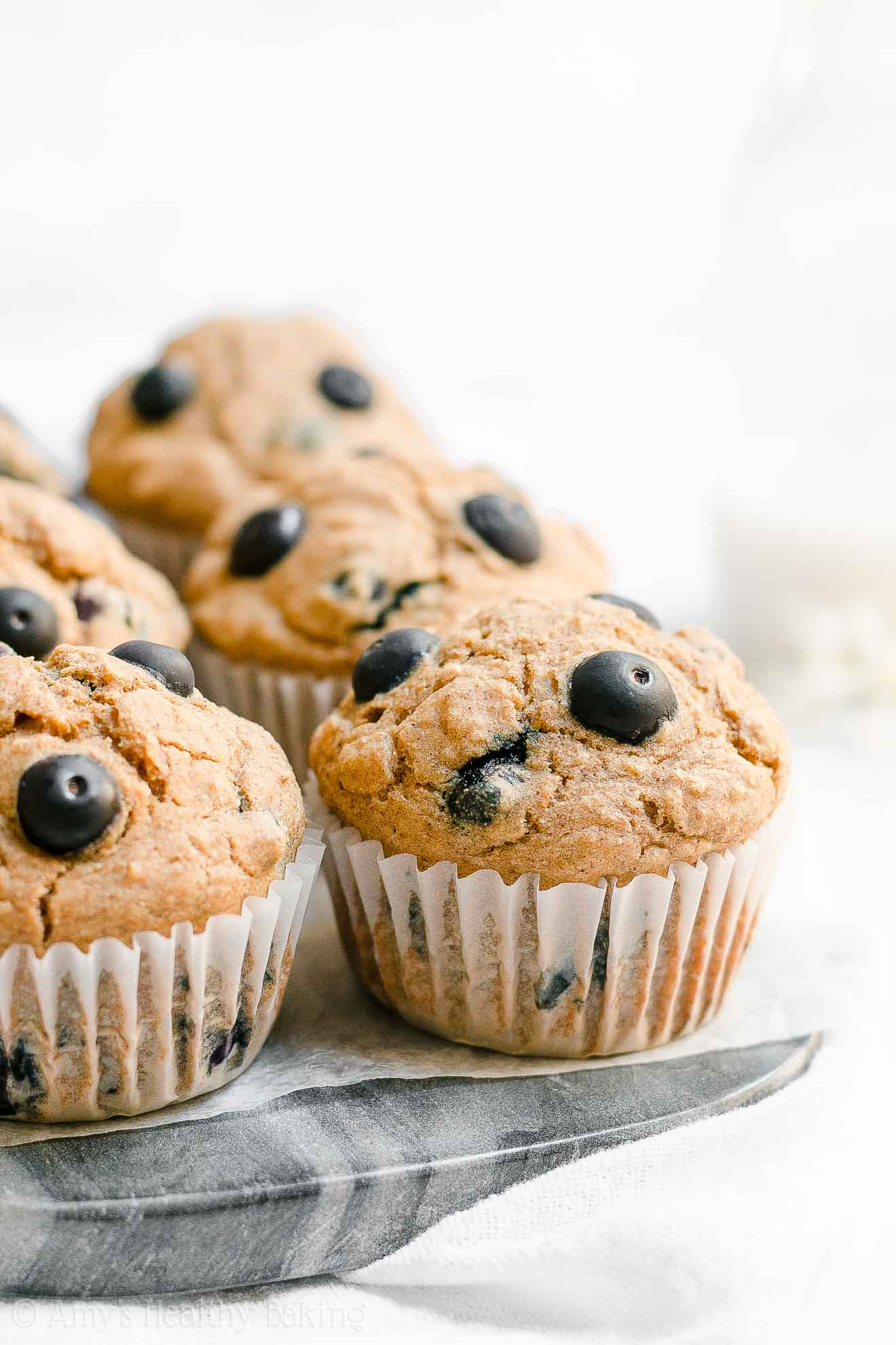 ULTIMATE Healthy Low Fat Gluten Free Blueberry Oatmeal Muffins