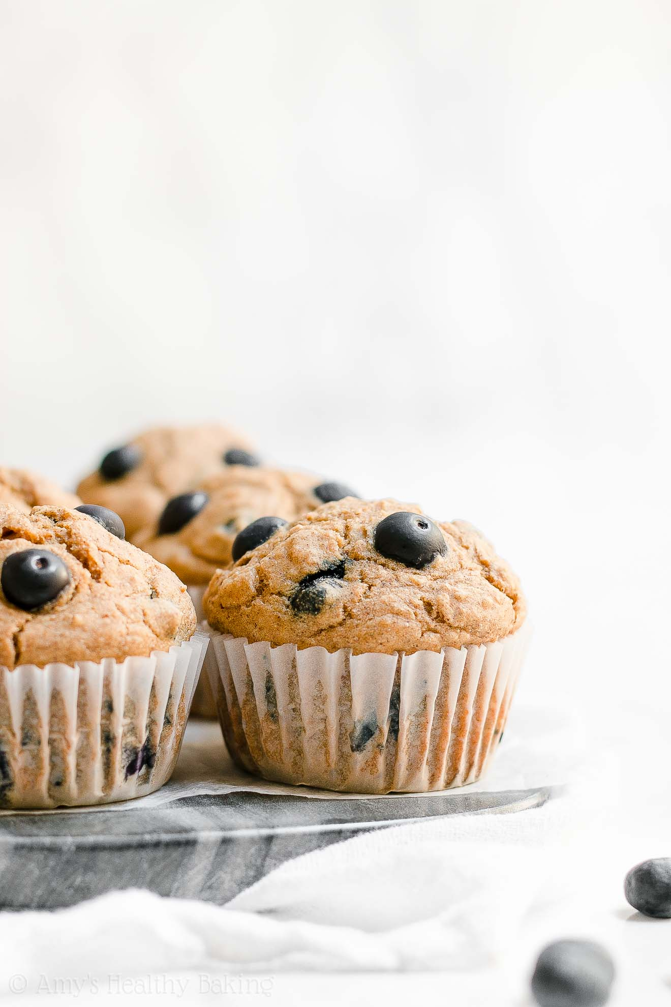 ULTIMATE Healthy Blueberry Oatmeal Muffins with Weight Watchers Points