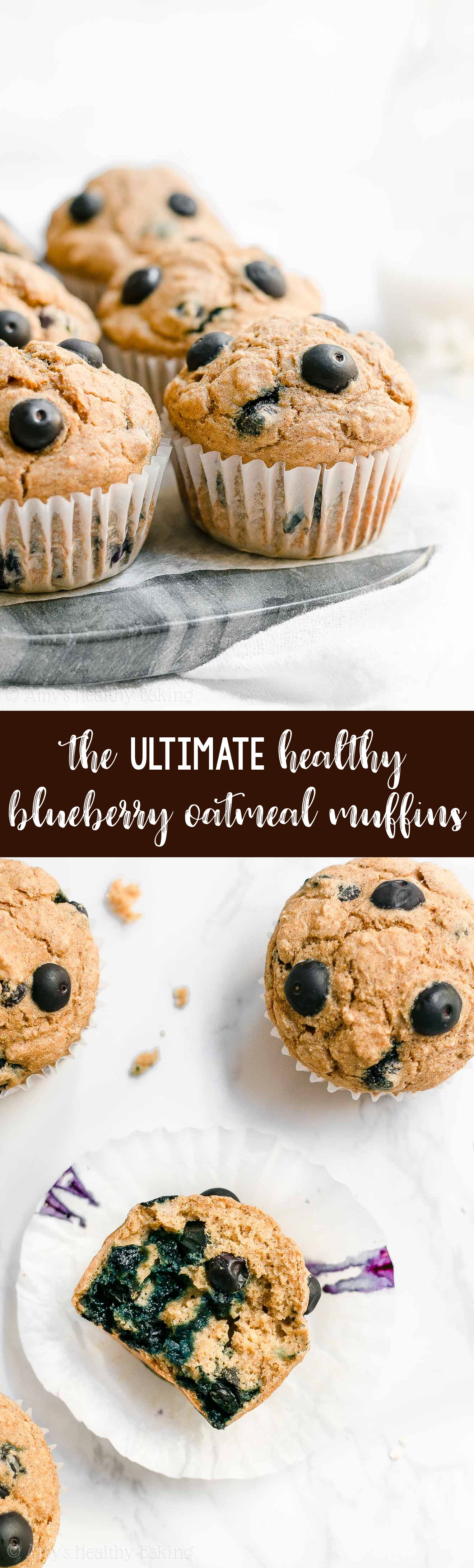 ULTIMATE Healthy Clean Eating Best Blueberry Oatmeal Muffins