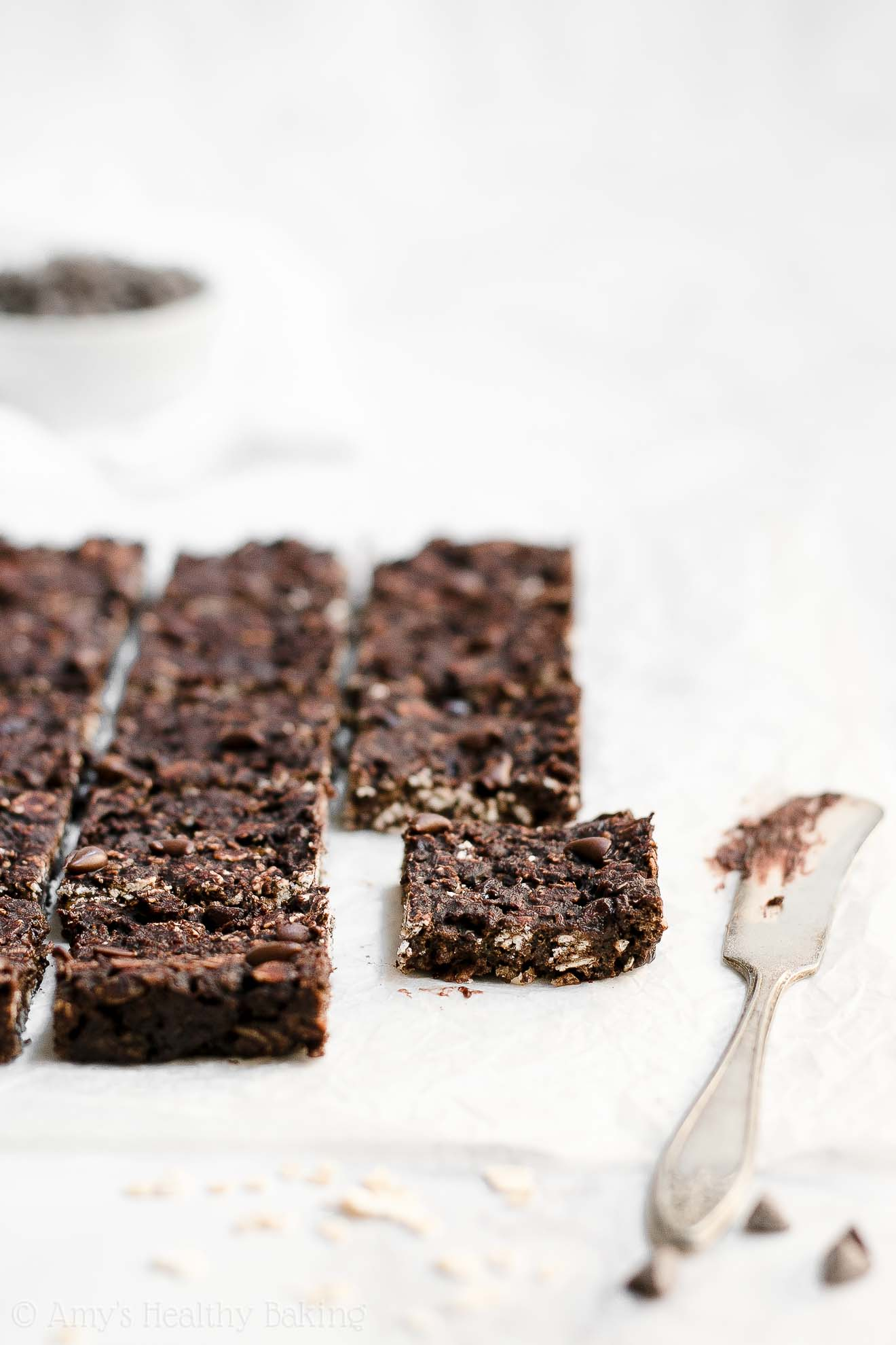 Easy Healthy Low Calorie Chewy Dark Chocolate Granola Bar Bites