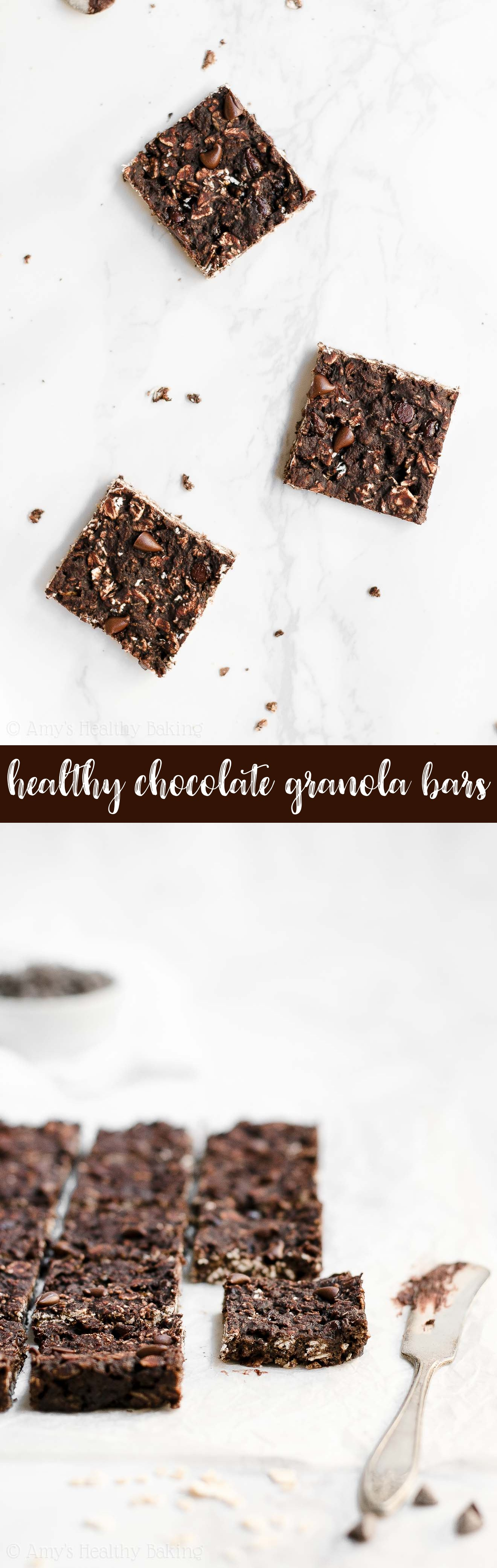 Best Ever Healthy Clean Eating Dark Chocolate Granola Bar Bites