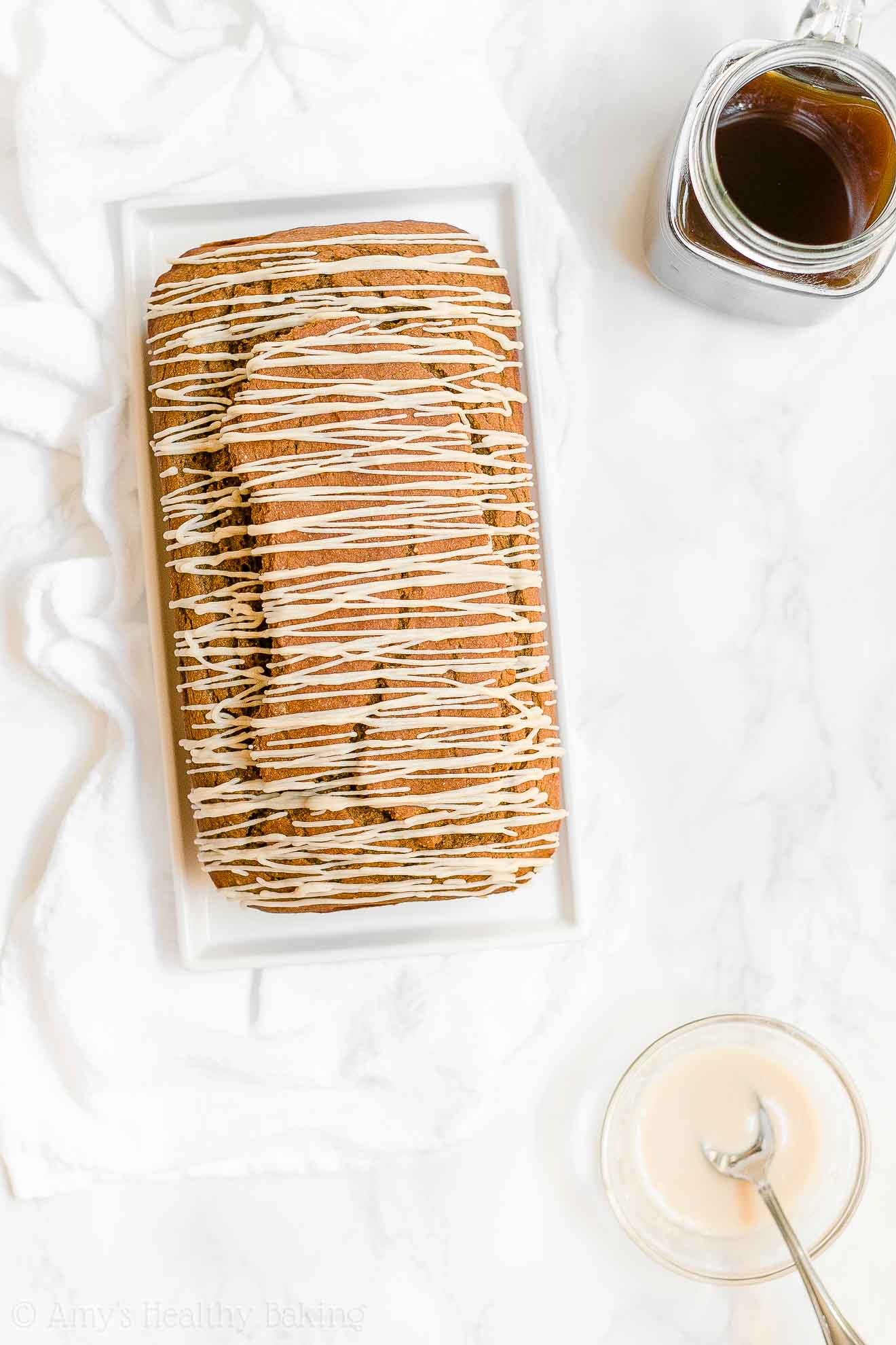 Easy Healthy Homemade Low Sugar Pumpkin Spice Latte Pound Cake