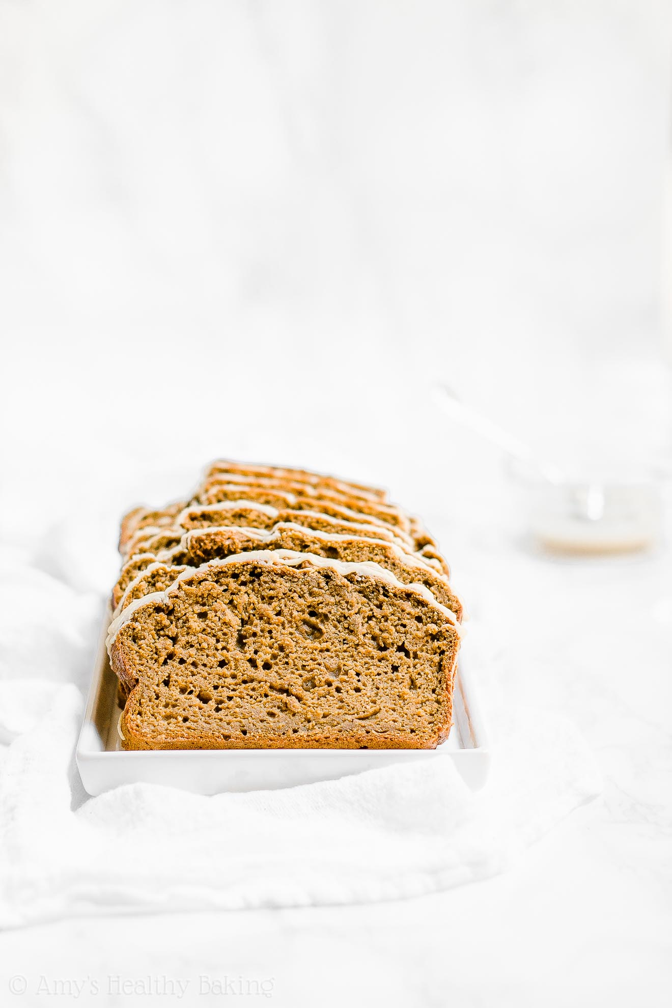 Healthy Sugar Free Greek Yogurt Pumpkin Spice Latte Pound Cake