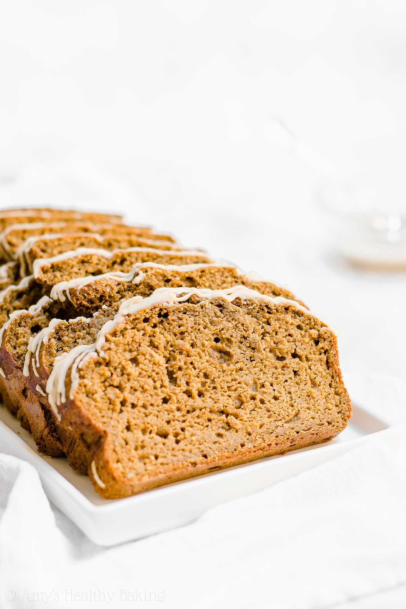 Healthy Gluten Free Low Calorie Pumpkin Spice Latte Pound Cake