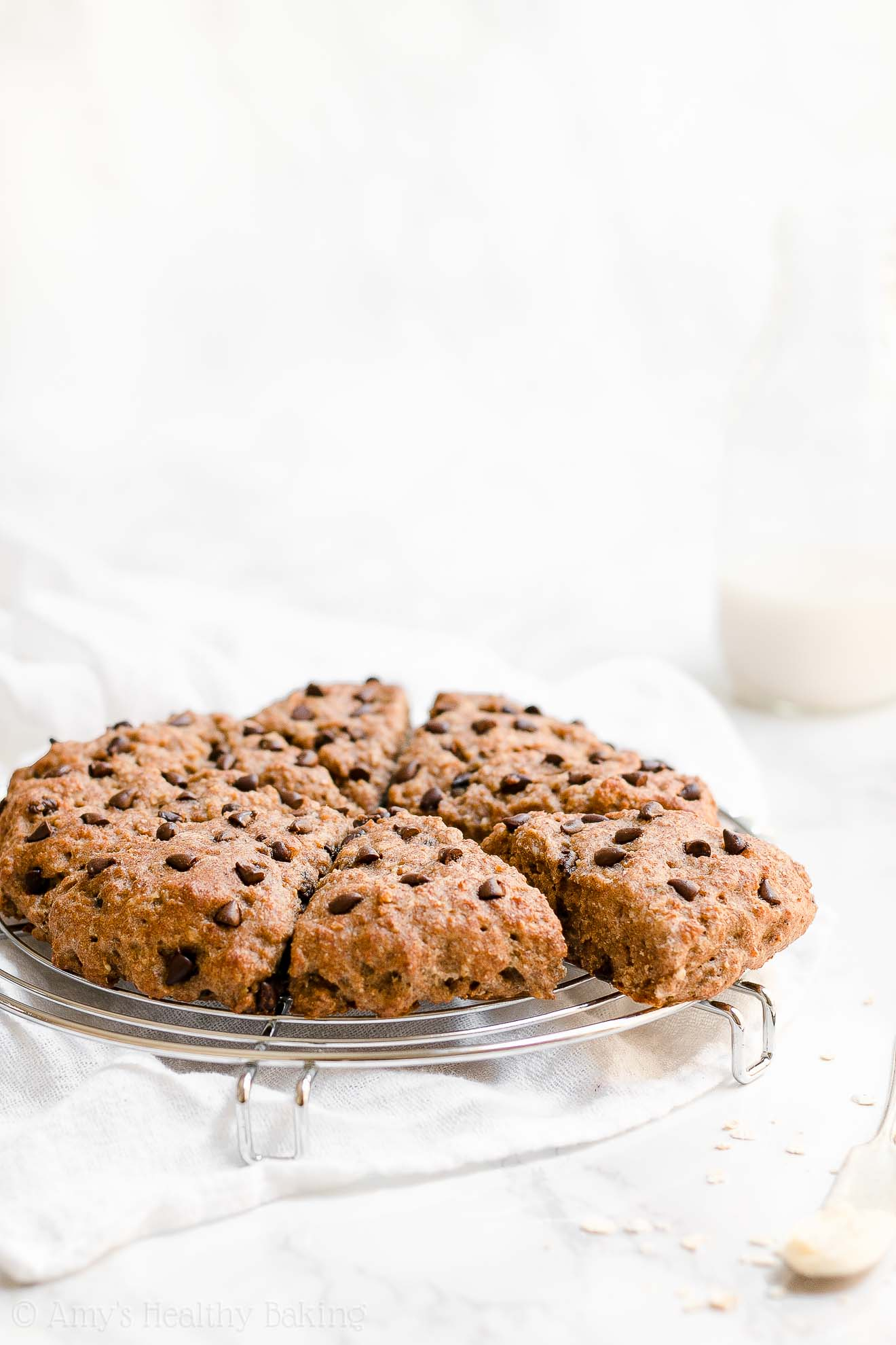Moist Healthy Whole Wheat Oatmeal Chocolate Chip Scones