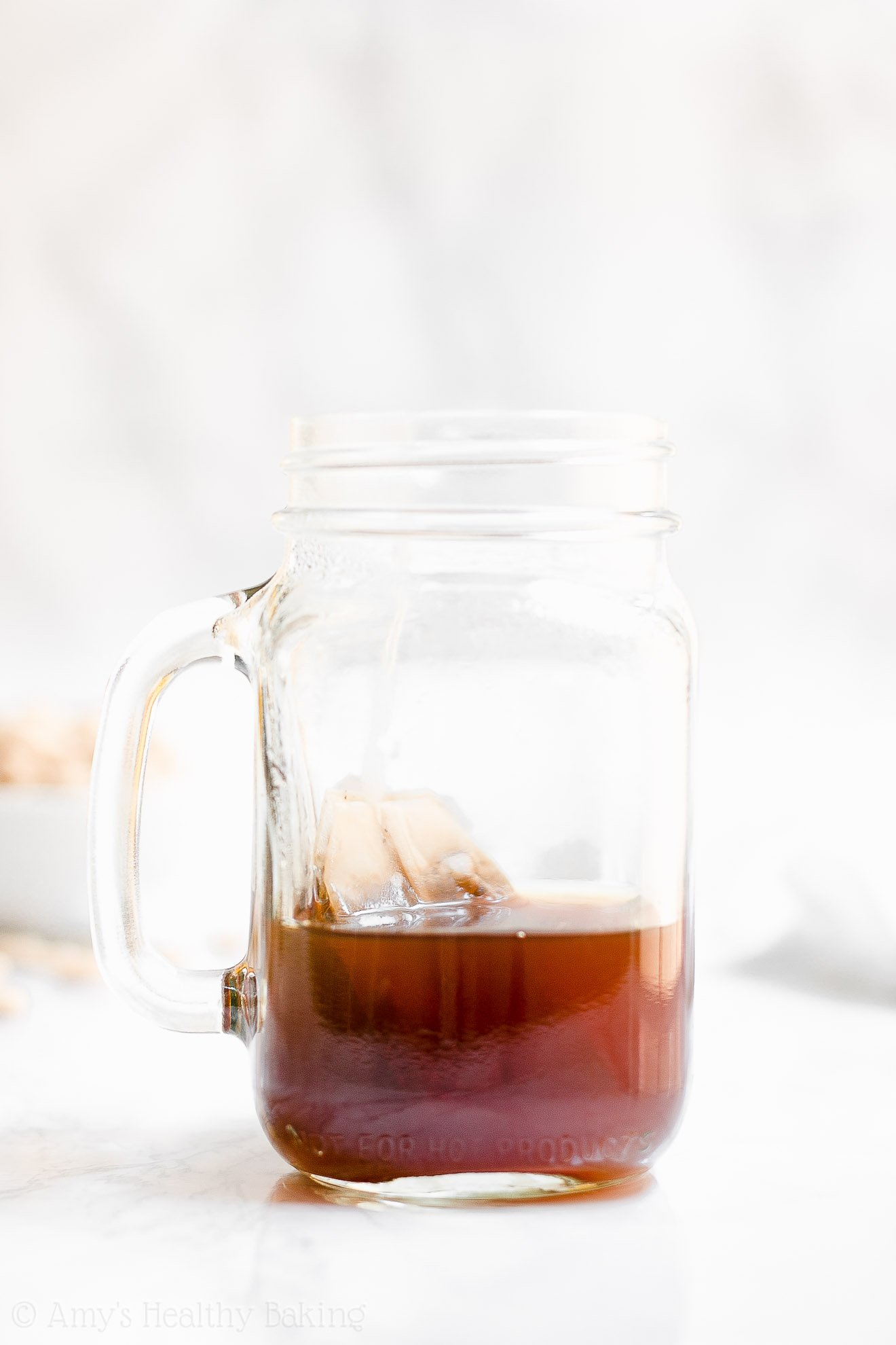 Brewed tea for the ULTIMATE Healthy Pumpkin Spice Chai Latte