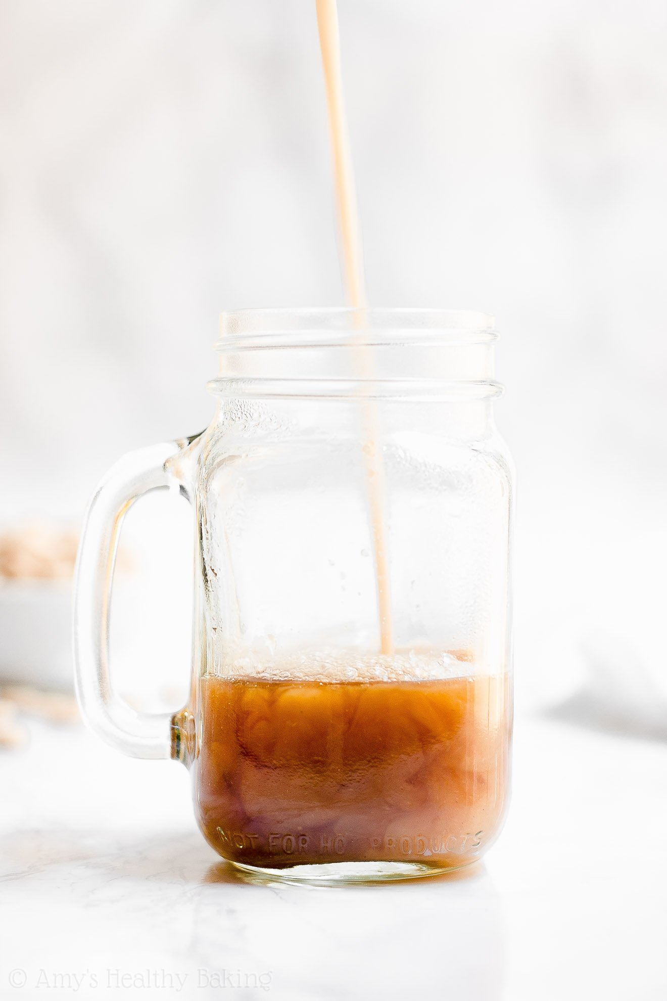 Healthy Low Calorie Sugar Free, Dairy Free Pumpkin Spice Chai Latte