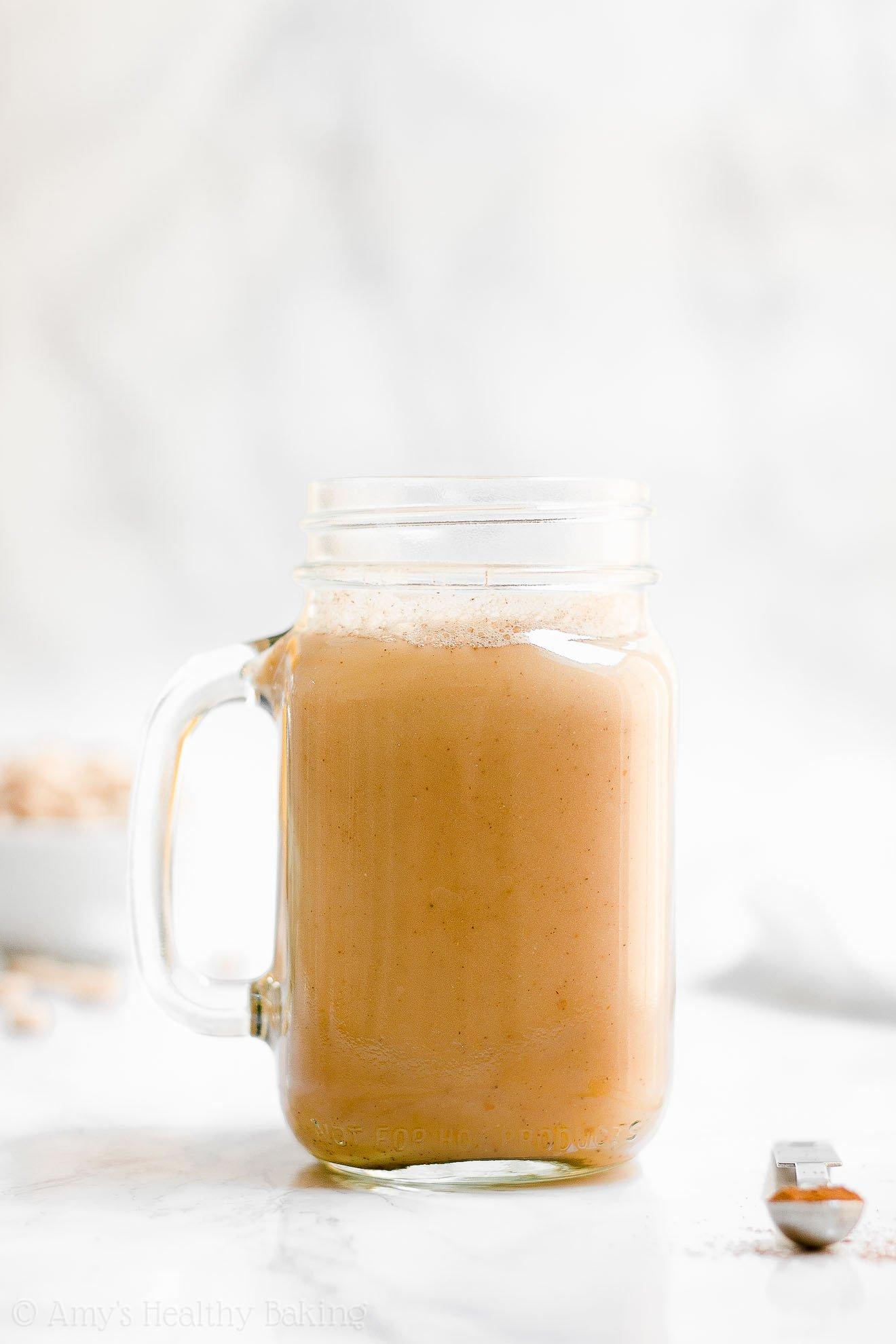 Easy ULTIMATE Healthy Pumpkin Spice Chai Latte