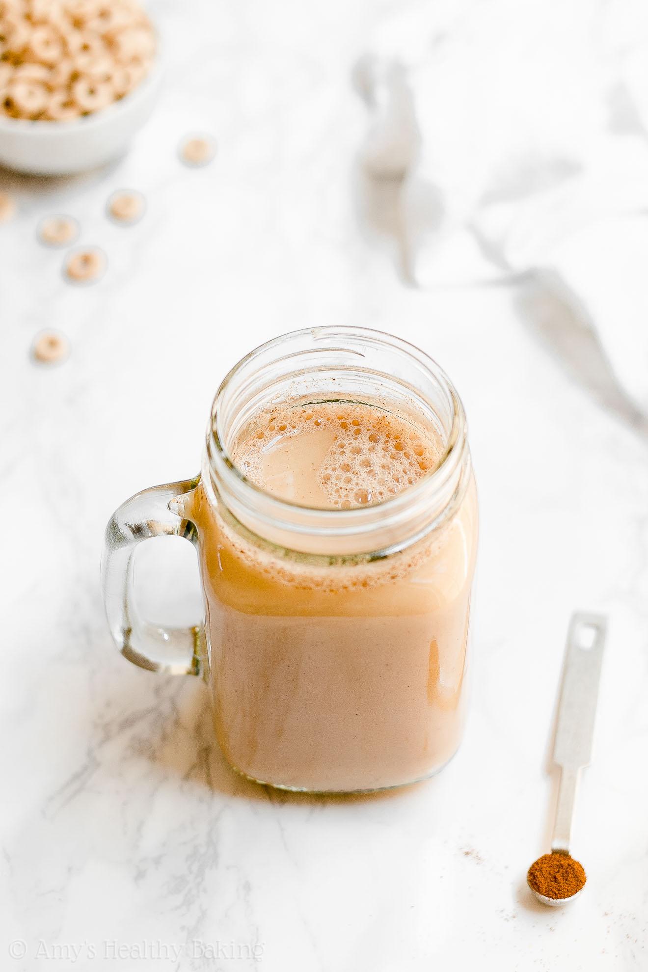Homemade Healthy Vegan Sugar Free Pumpkin Spice Chai Latte