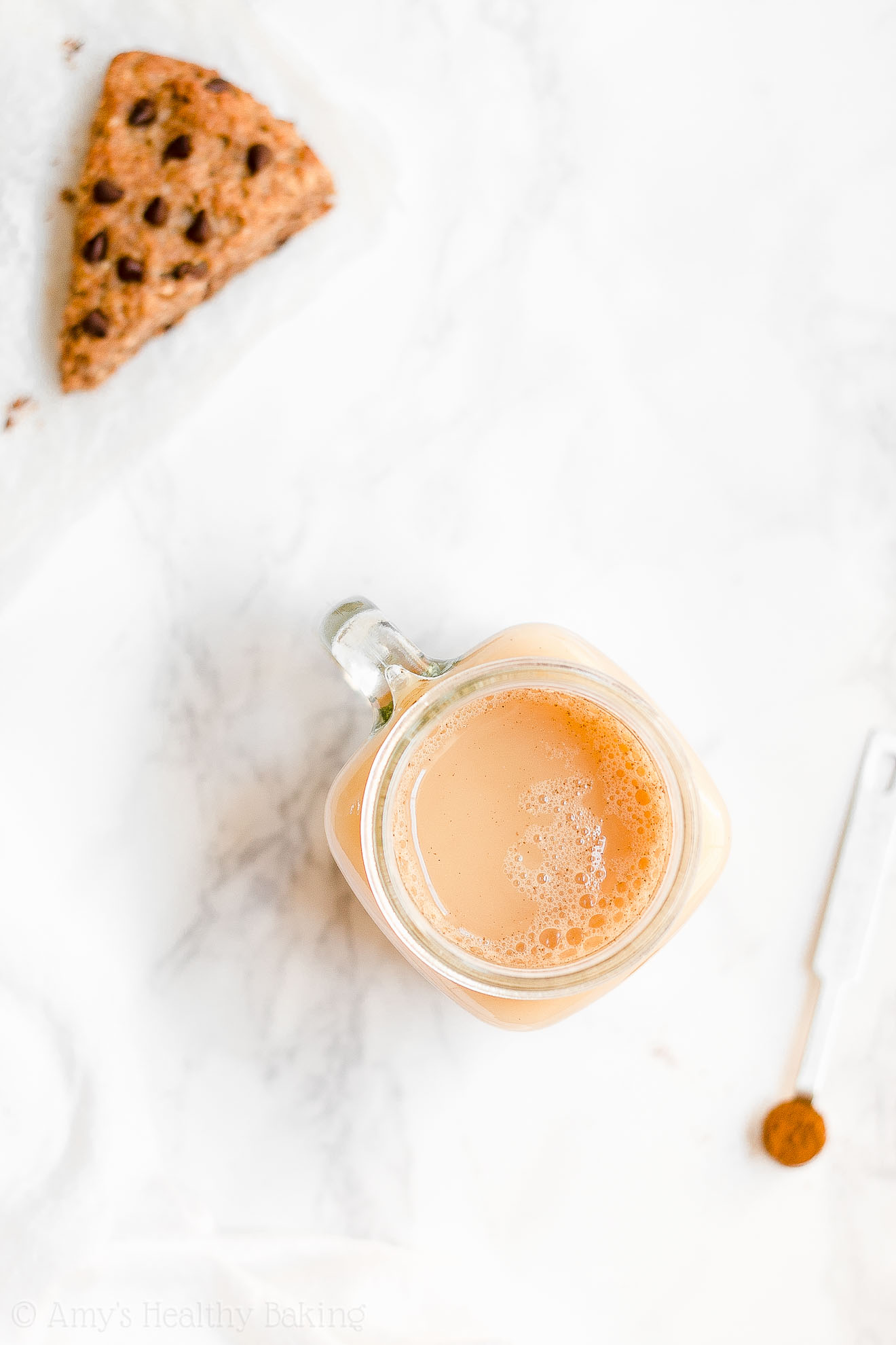Healthy Clean Eating Almond Milk Pumpkin Spice Chai Latte
