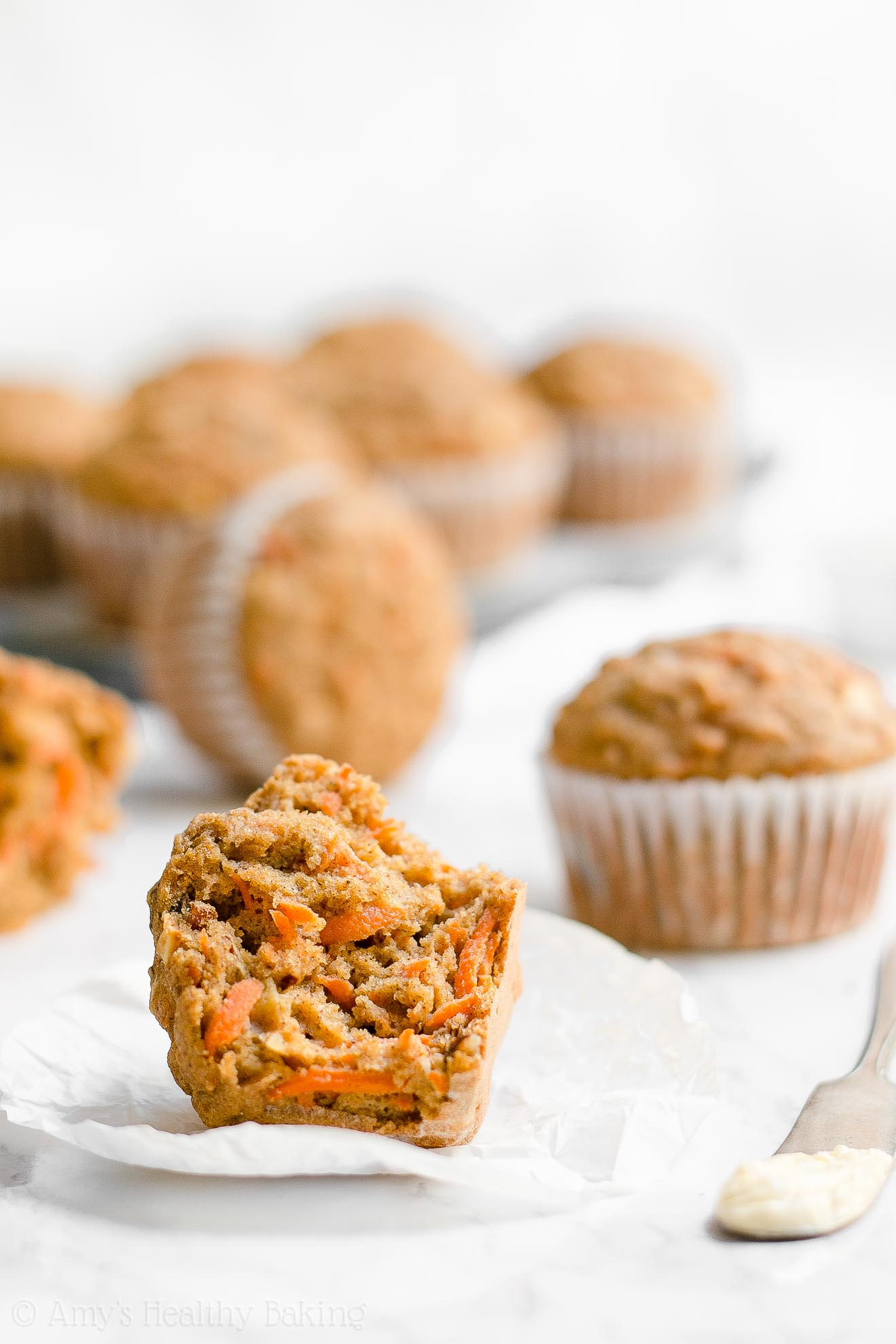 ULTIMATE Healthy Whole Wheat Easy Morning Glory Muffins
