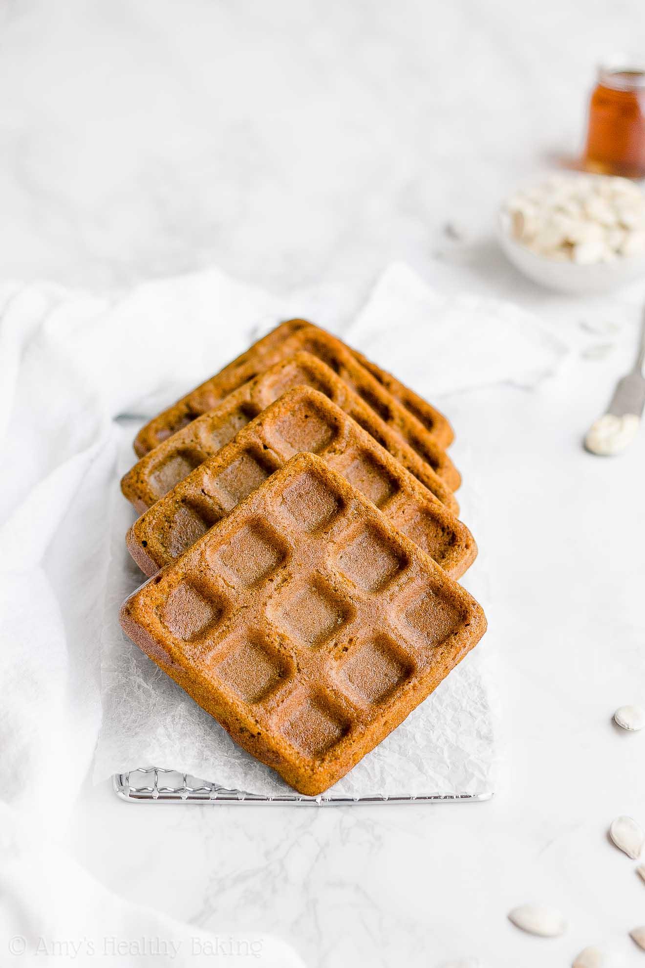 Best Healthy Baked 100-Calorie Sugar Free Pumpkin Waffles