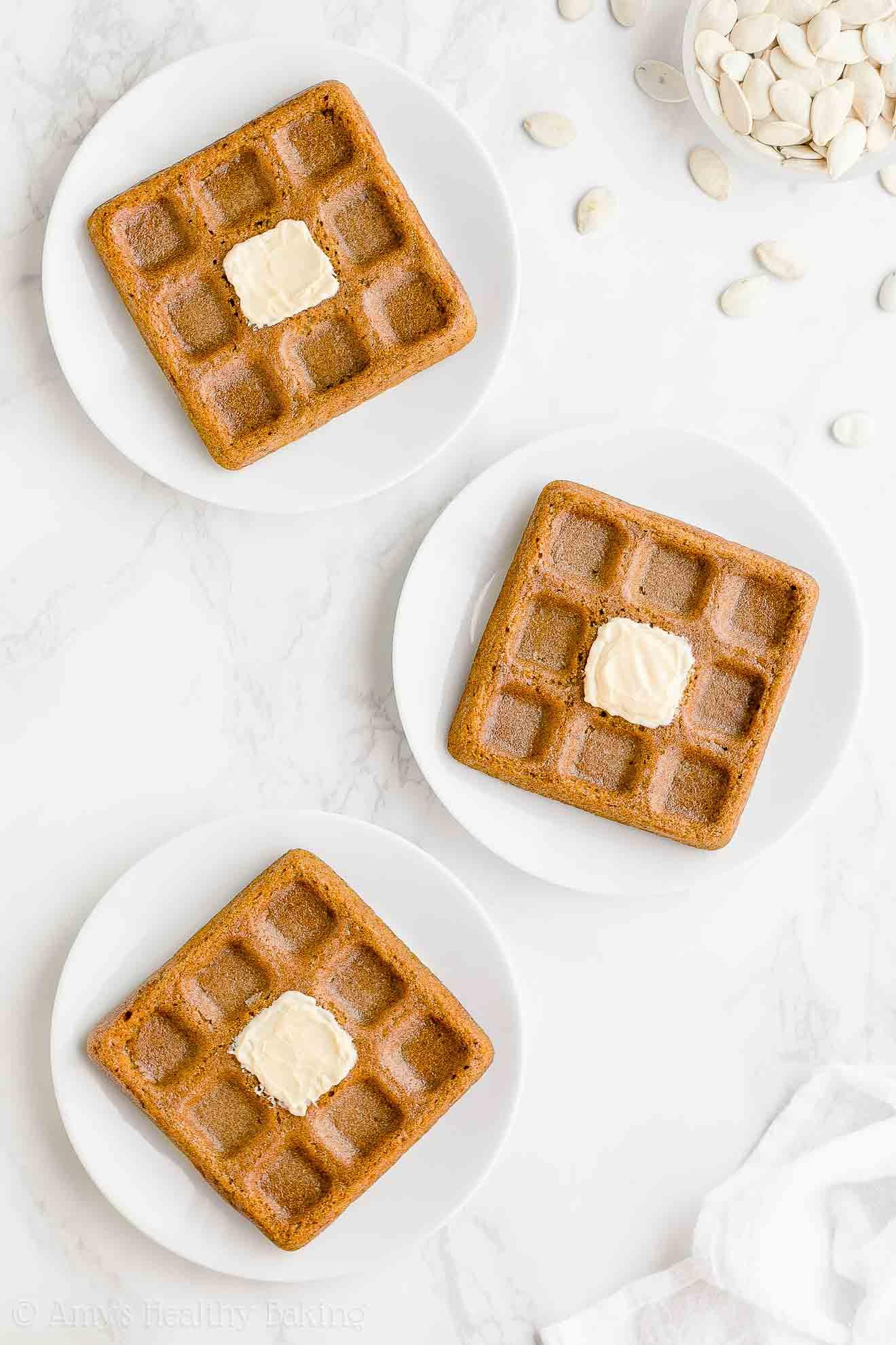 Best Healthy Fluffy Low Fat Gluten Free Pumpkin Waffles